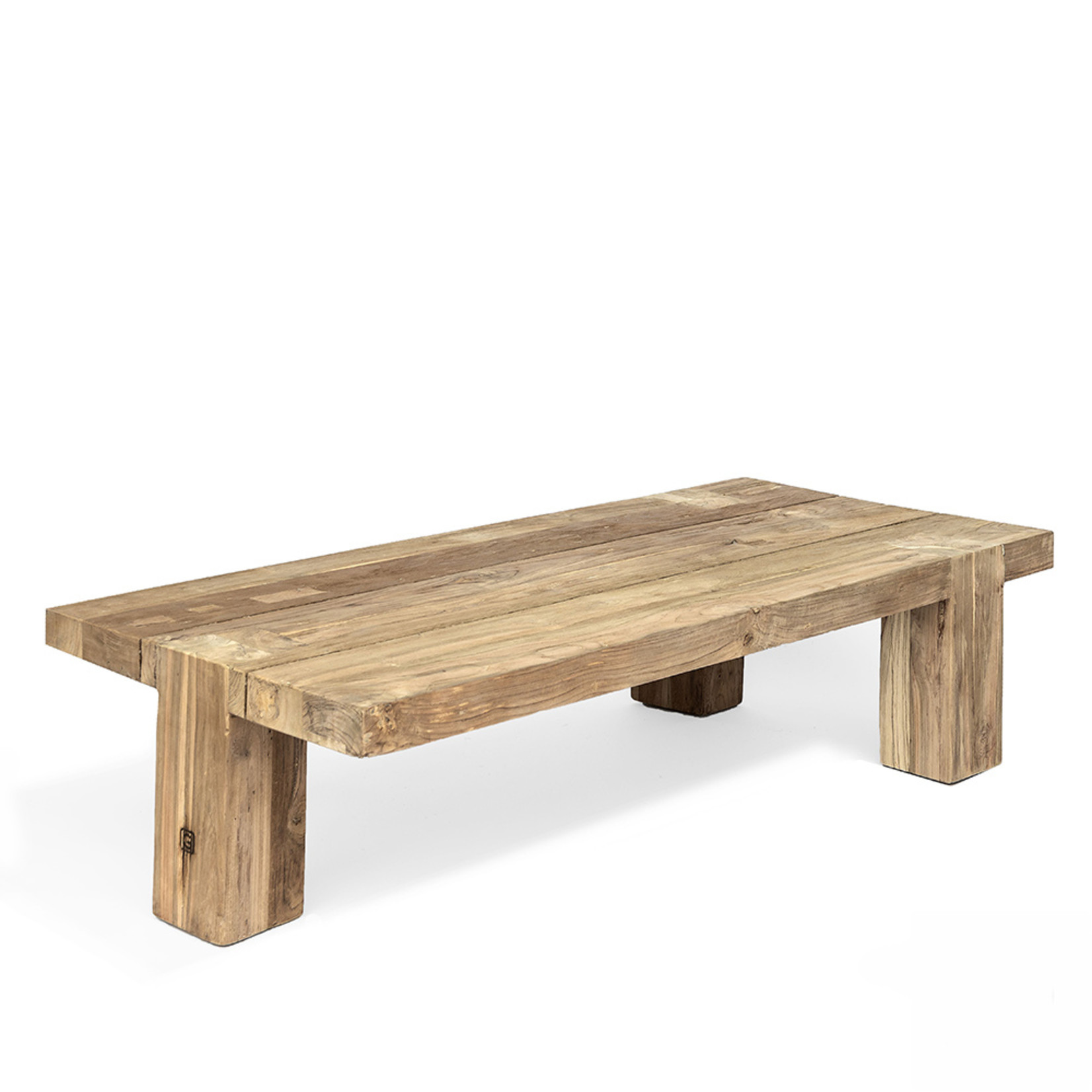 Gommaire Coffee Table Dovetail | Reclaimed Teak Natural Gray