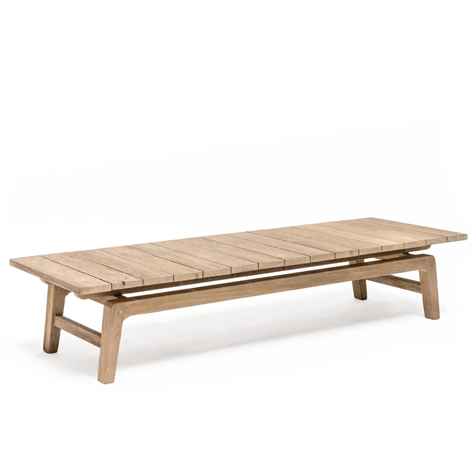 Gommaire Table basse Copenhague   Teck récupéré gris naturel