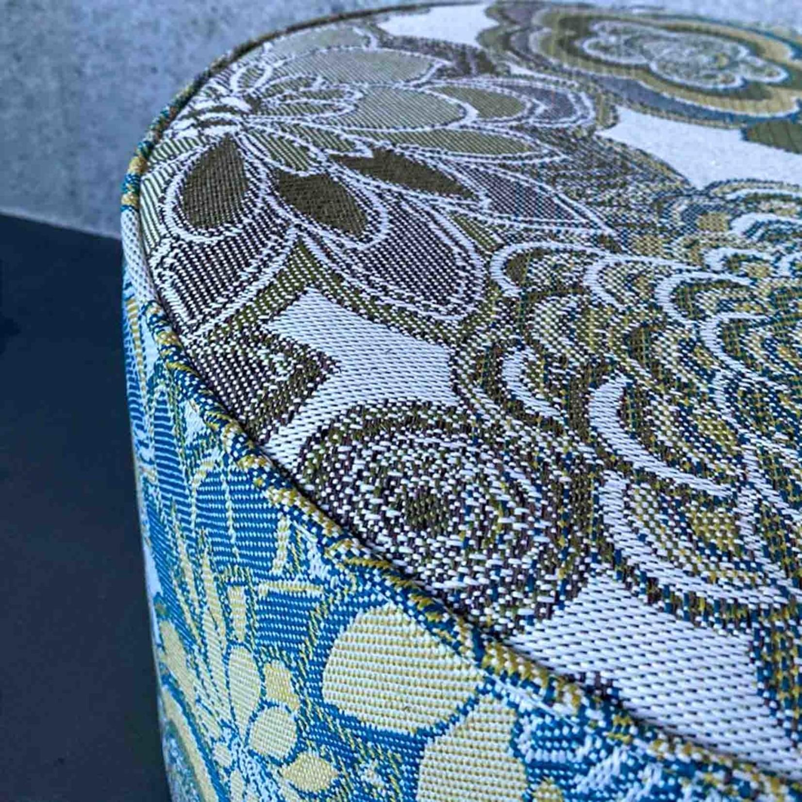 Evolution 21 Gardenia Blue Green | Outdoor Pouf Sun Lux