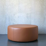 Evolution 21 Outdoor Leather Brown Cuoio   Outdoor Pouf Sun