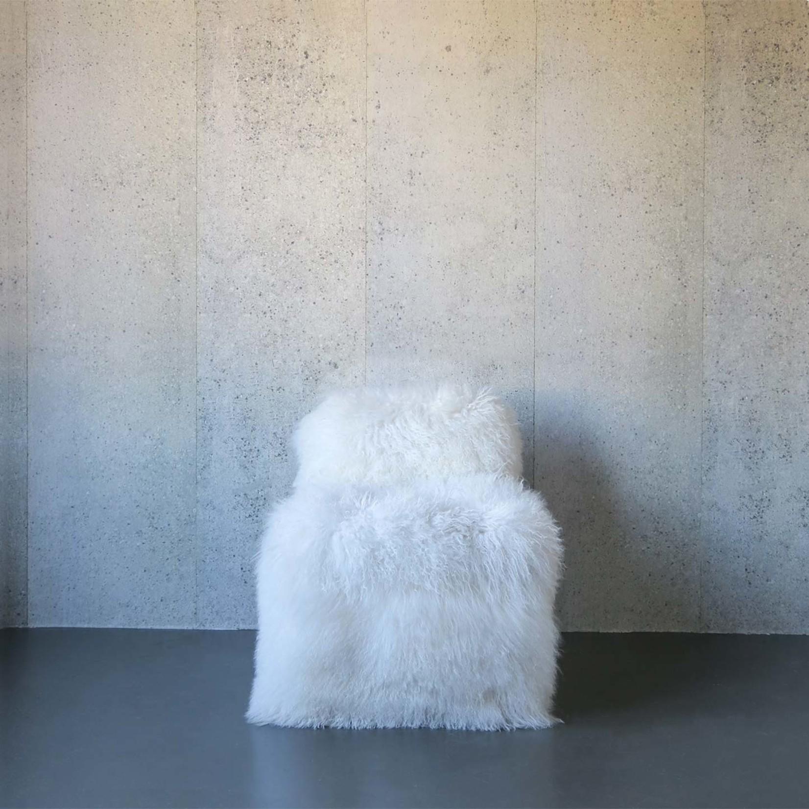 Evolution 21 Mongolie Fourrure Blanc   Chaise Venise