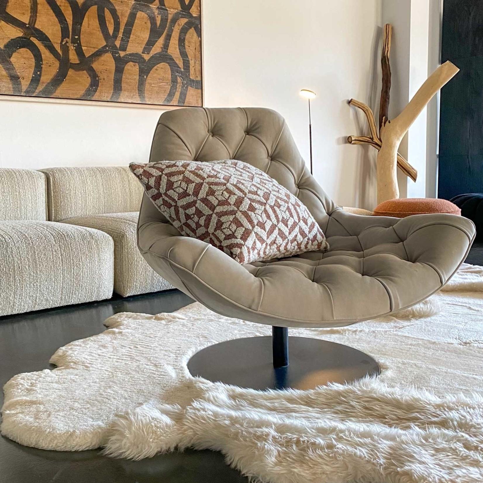 Evolution 21 Nabuk Leather Natural | Swivel Chair