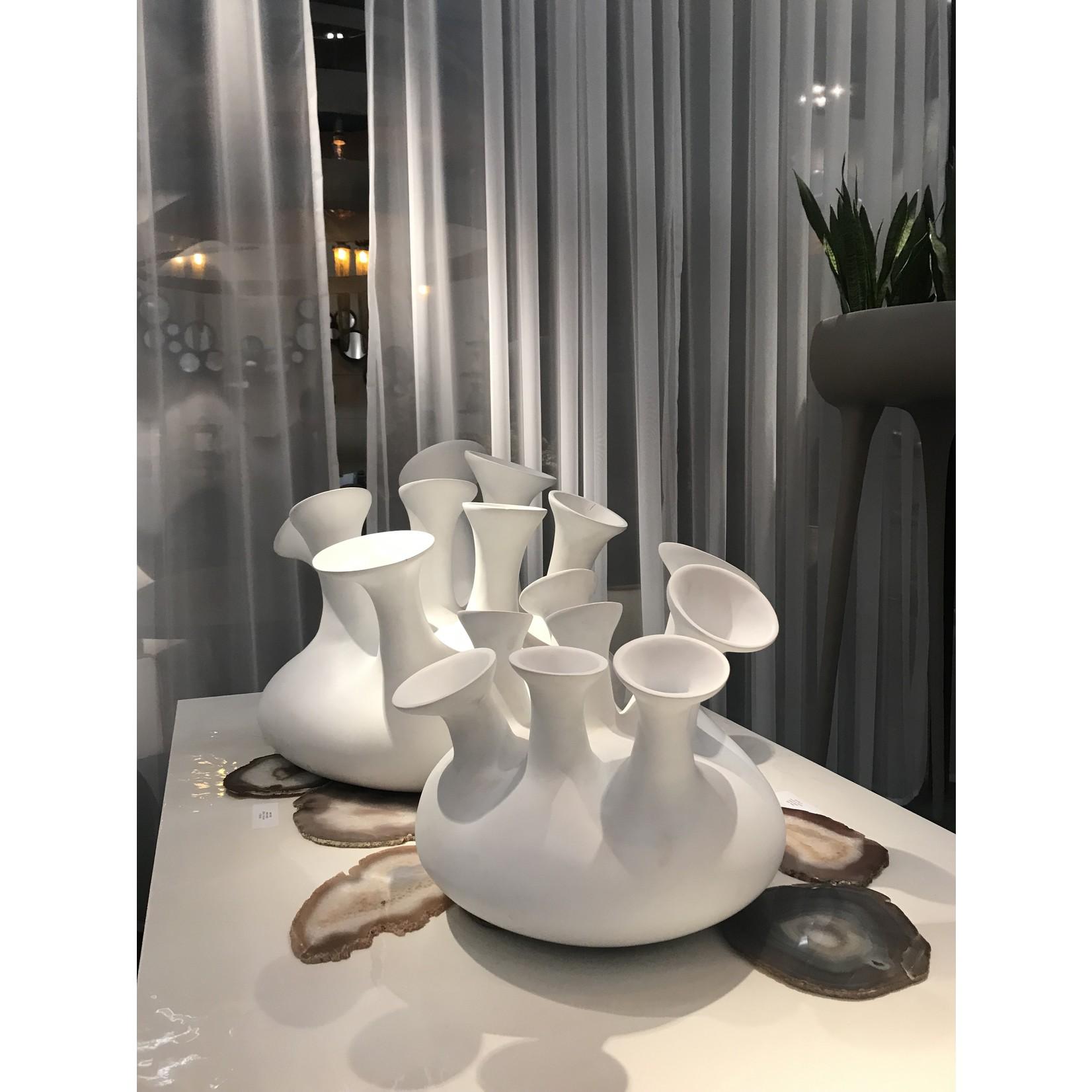 Aangenaam XL vase en gelée   blanc (mat)