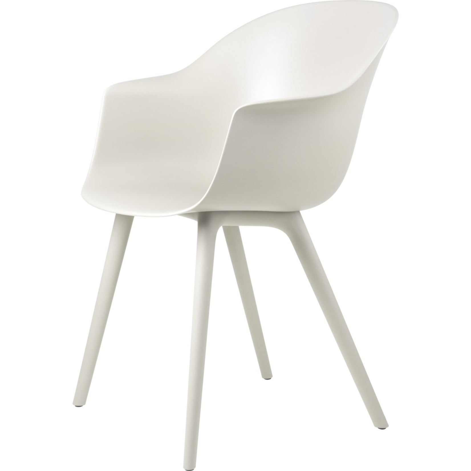 Gubi Chaise de salle à manger de chauve-souris | Blanc albâtre