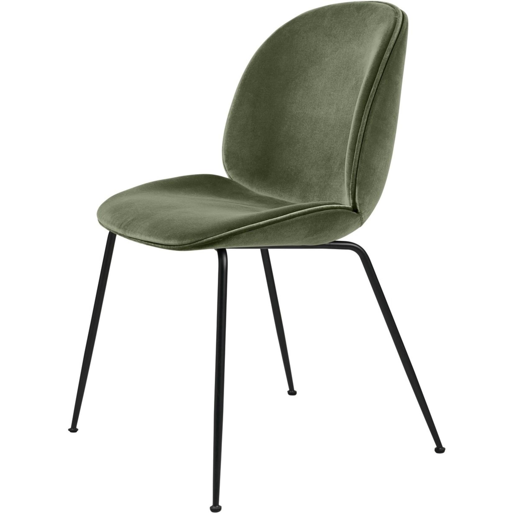 Gubi Beetle Dining Chair | Smokey Green & Black Matt Base
