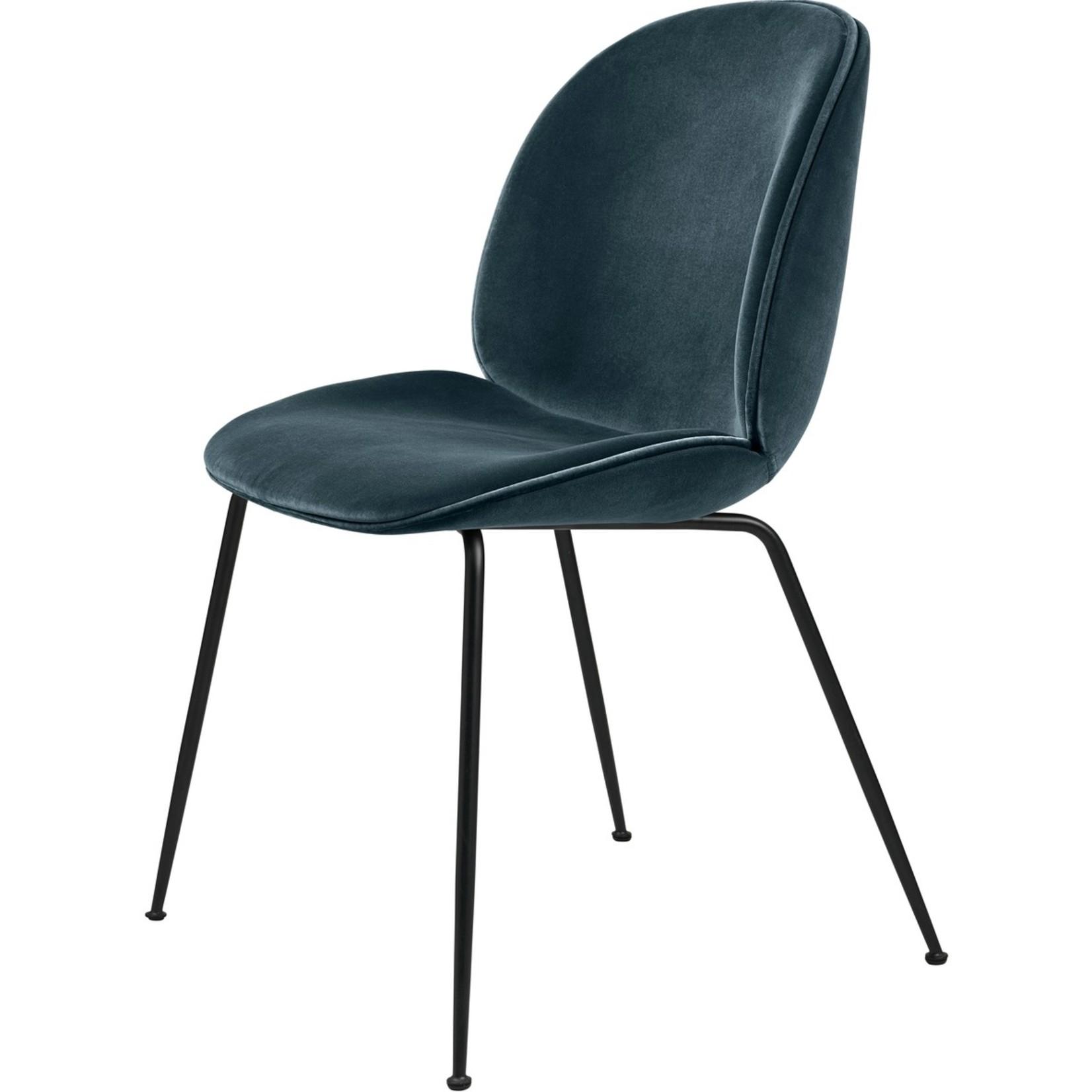 Gubi Beetle Dining Chair | Steel Blue & Black Matt Base