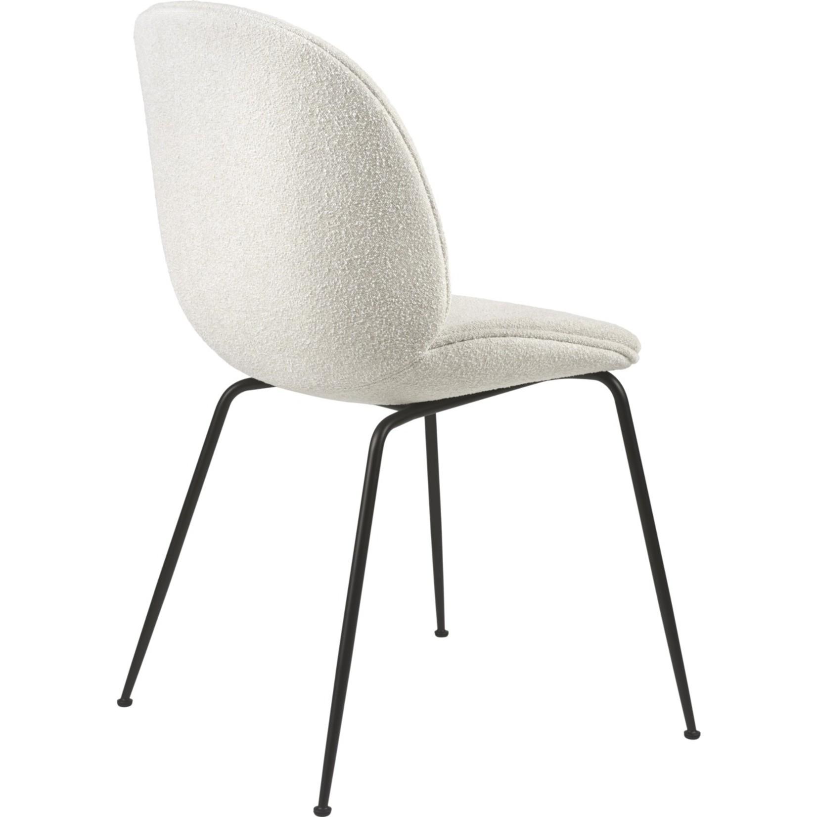 Gubi Beetle Dining Chair | Light Bouclé 001 & Black Matt Base