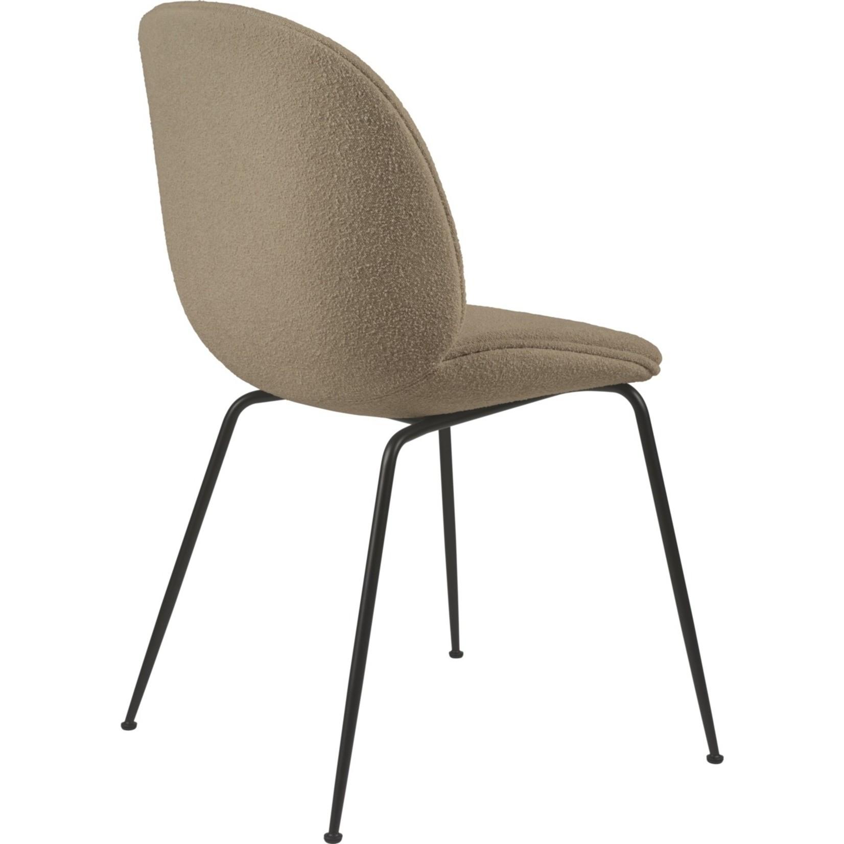 Gubi Beetle Dining Chair | Light Boucle 003 & Black Matt Base