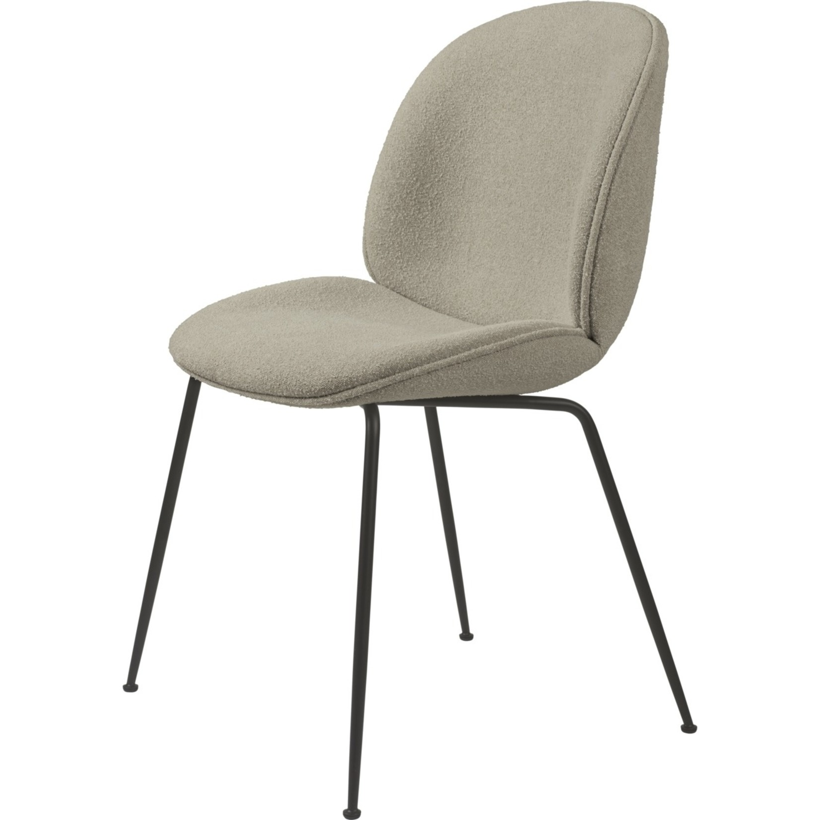 Gubi Chaise de salle à manger Beetle   Light Boucle 008 & Base Noir Mat