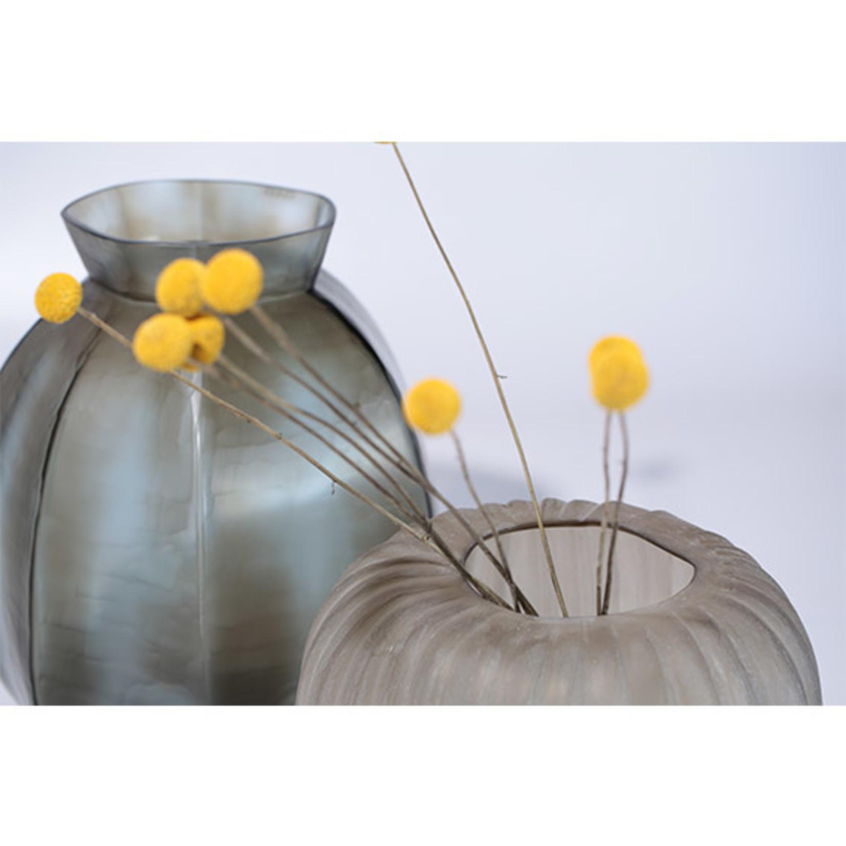 Guaxs Vase Karakol Round | Indigo / Smoke Gray