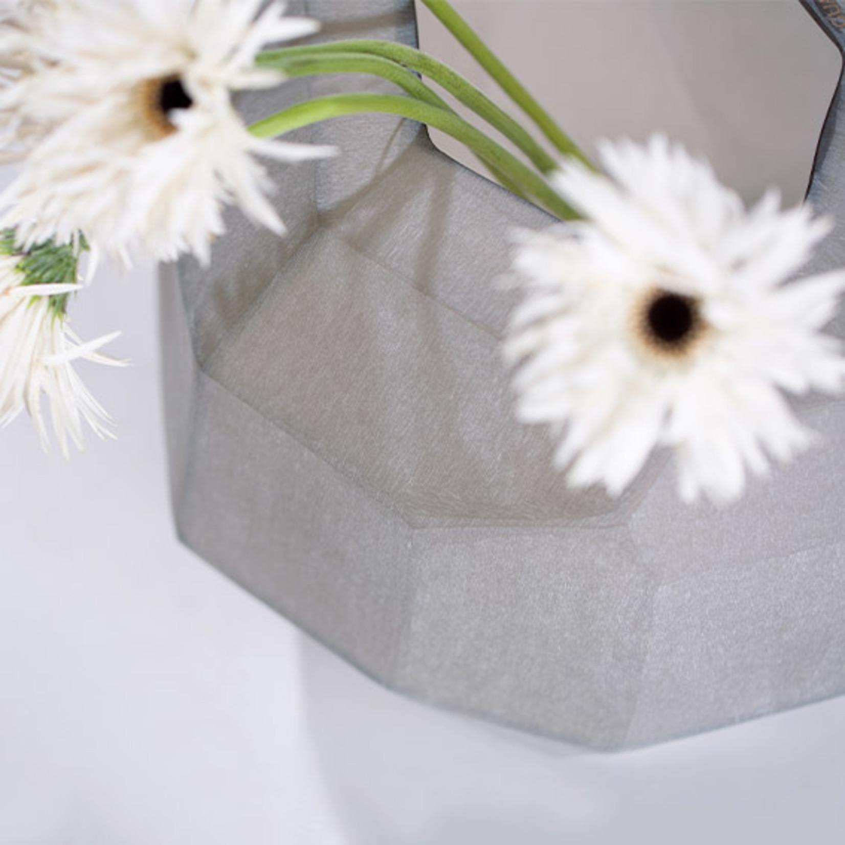 Guaxs Vase Cubistic Round | smoke grey