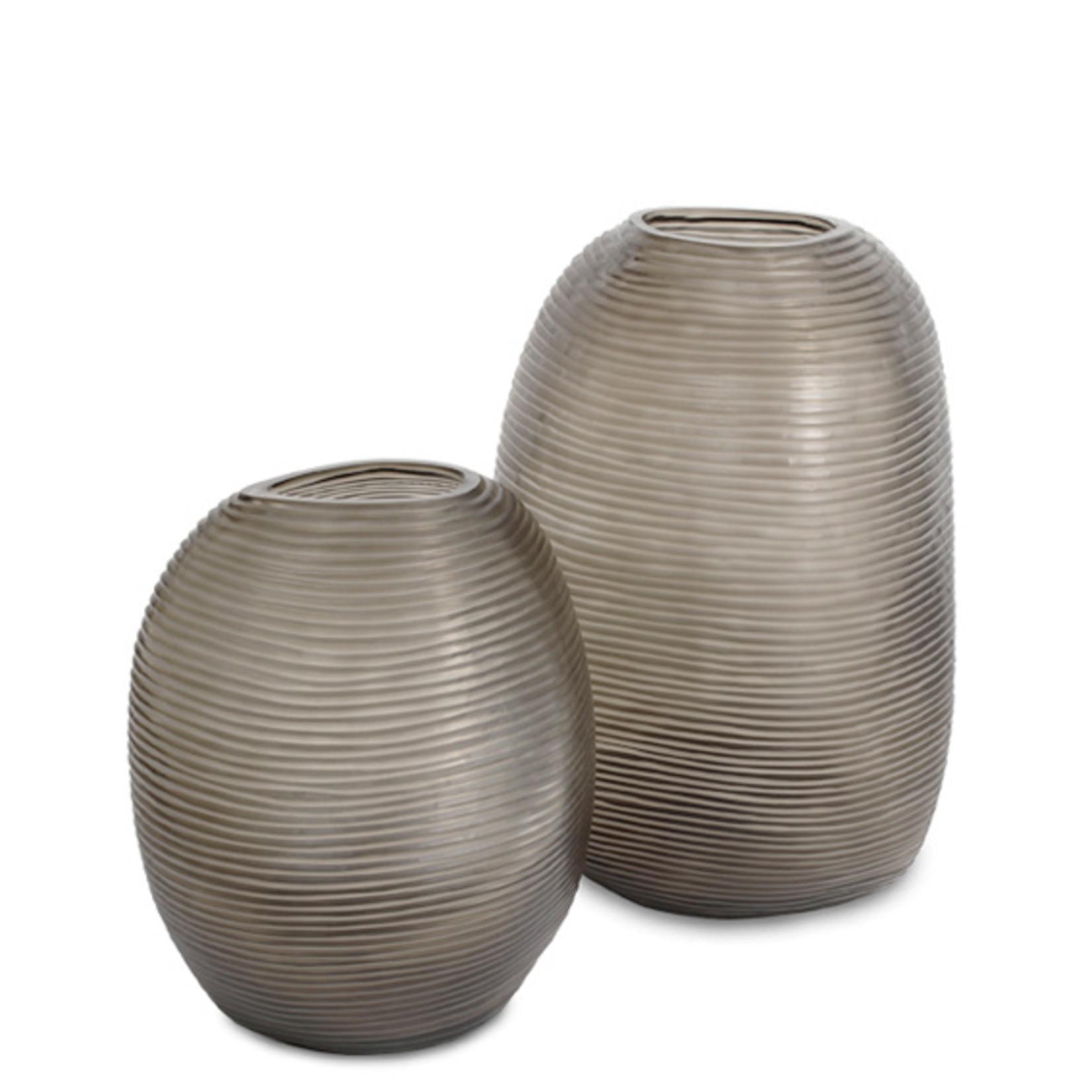 Guaxs Vase Patara Rond   Clair / Gris Fumée