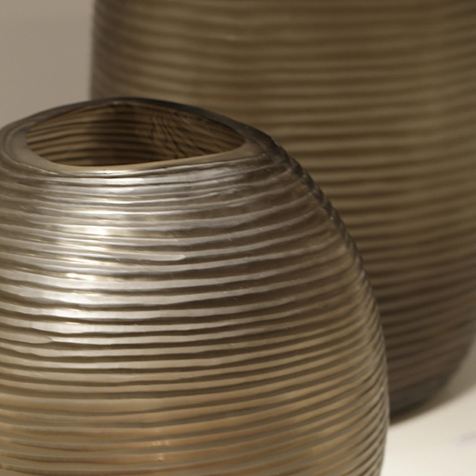 Guaxs Vase Patara Round | Clear / Smoke Gray