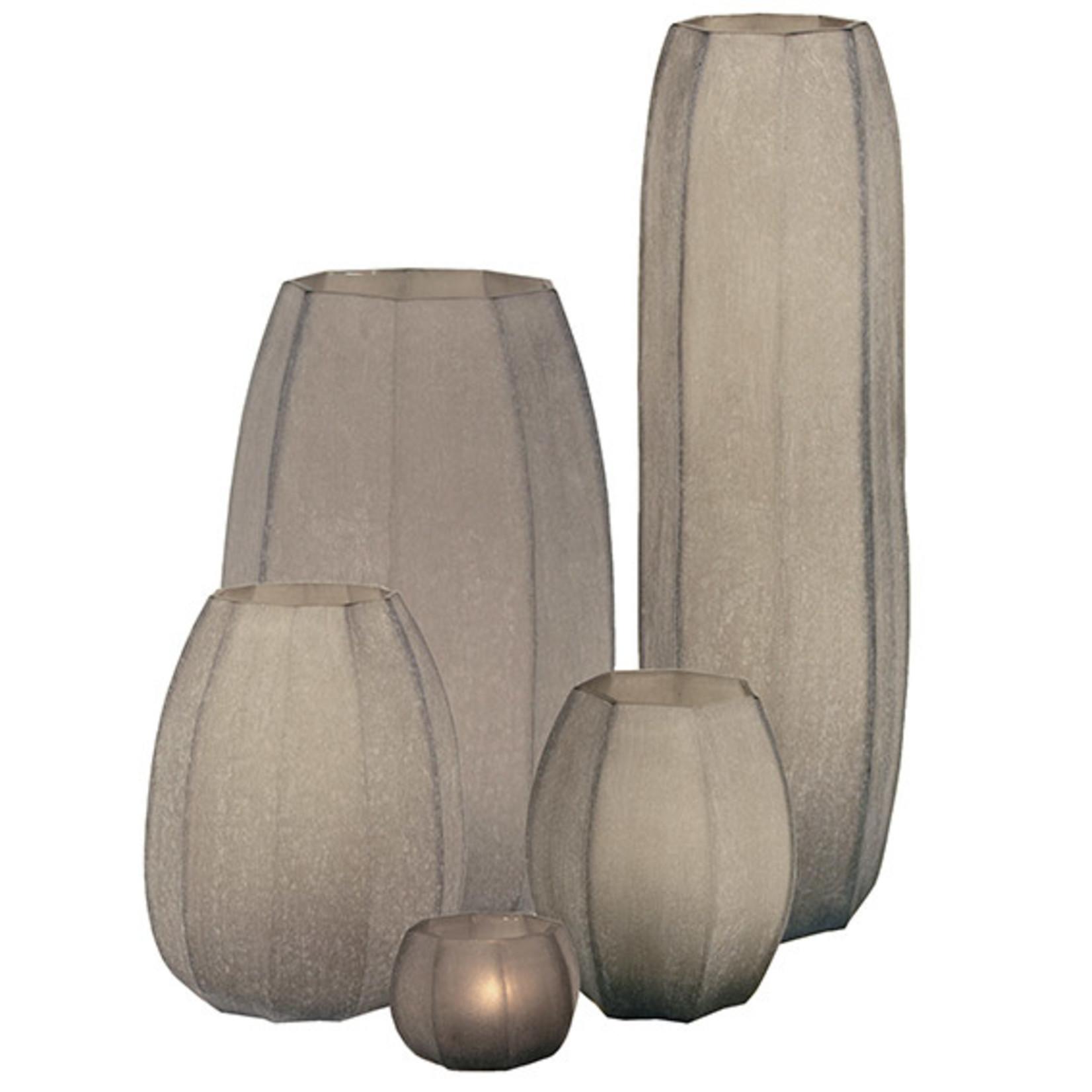 Guaxs Vase Koonam Tall   smoke grey