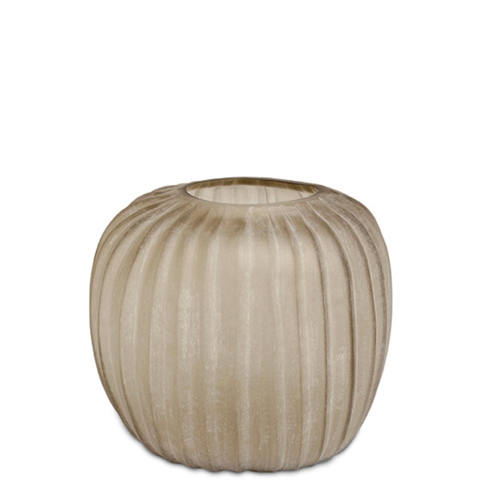 Guaxs Vase Manakara Round   Smokegrey