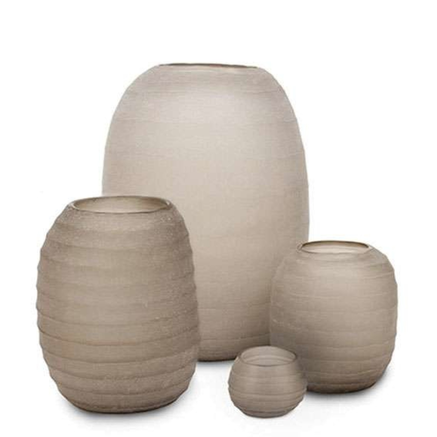 Guaxs Vase Belly Huge   smoke grey
