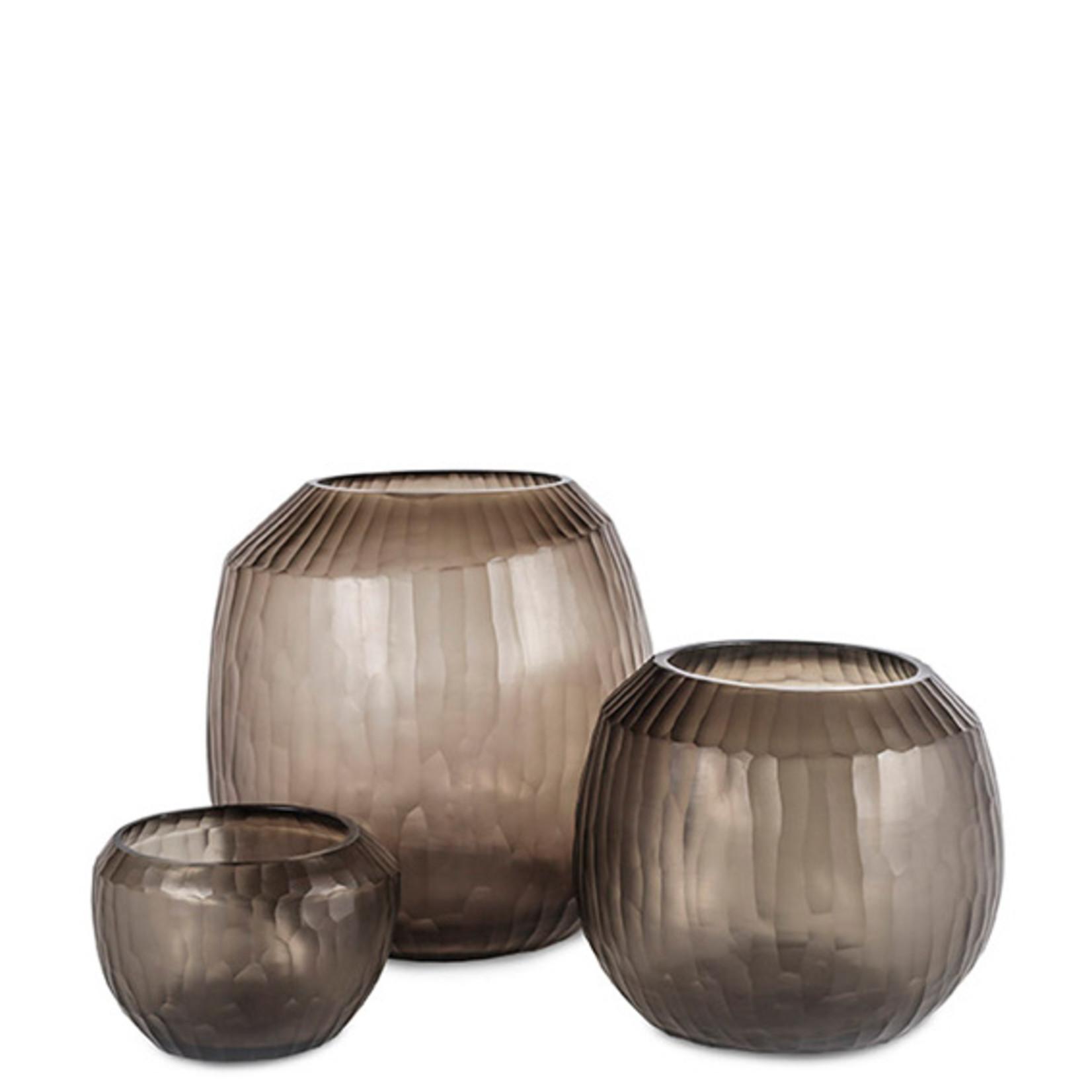 Guaxs Vase Malia L   smoke grey