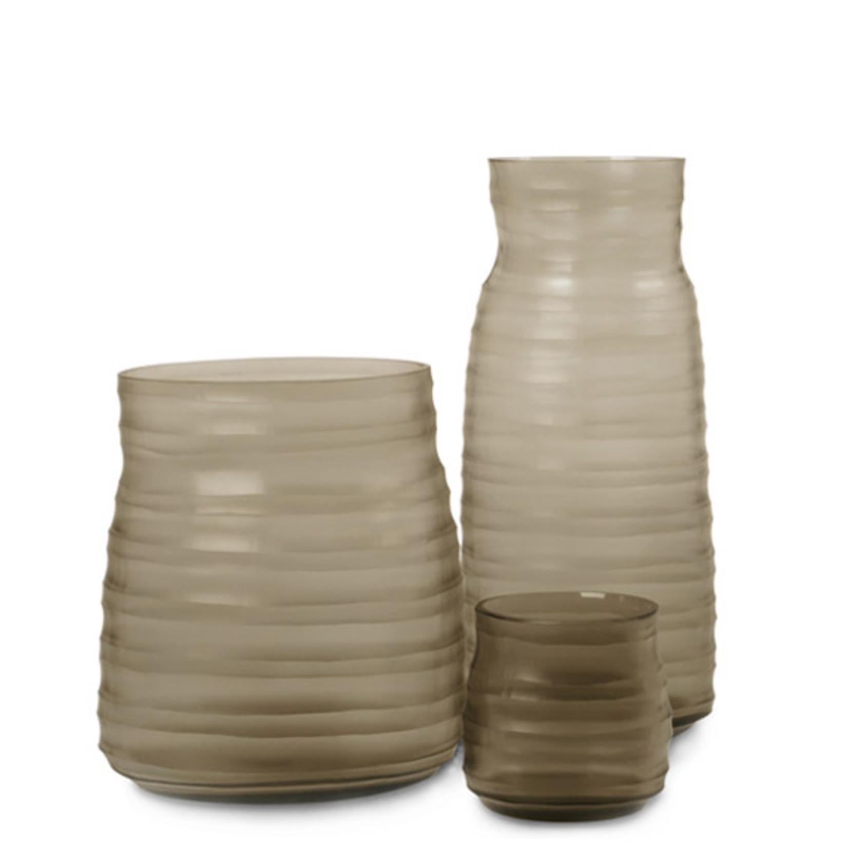 Guaxs Vase Mathura Tall   smoke grey