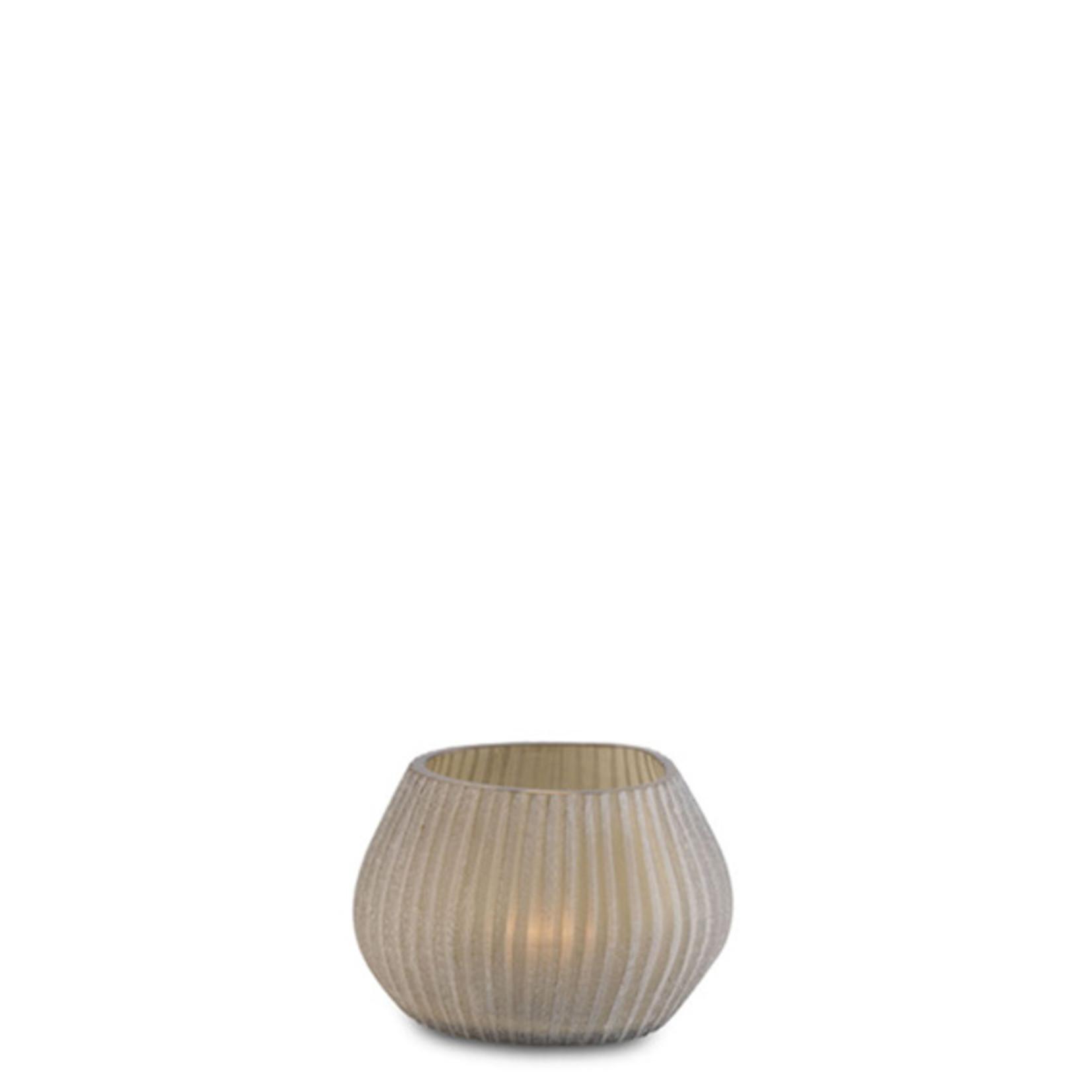 Guaxs Tea light holder Nagaa   smoke grey
