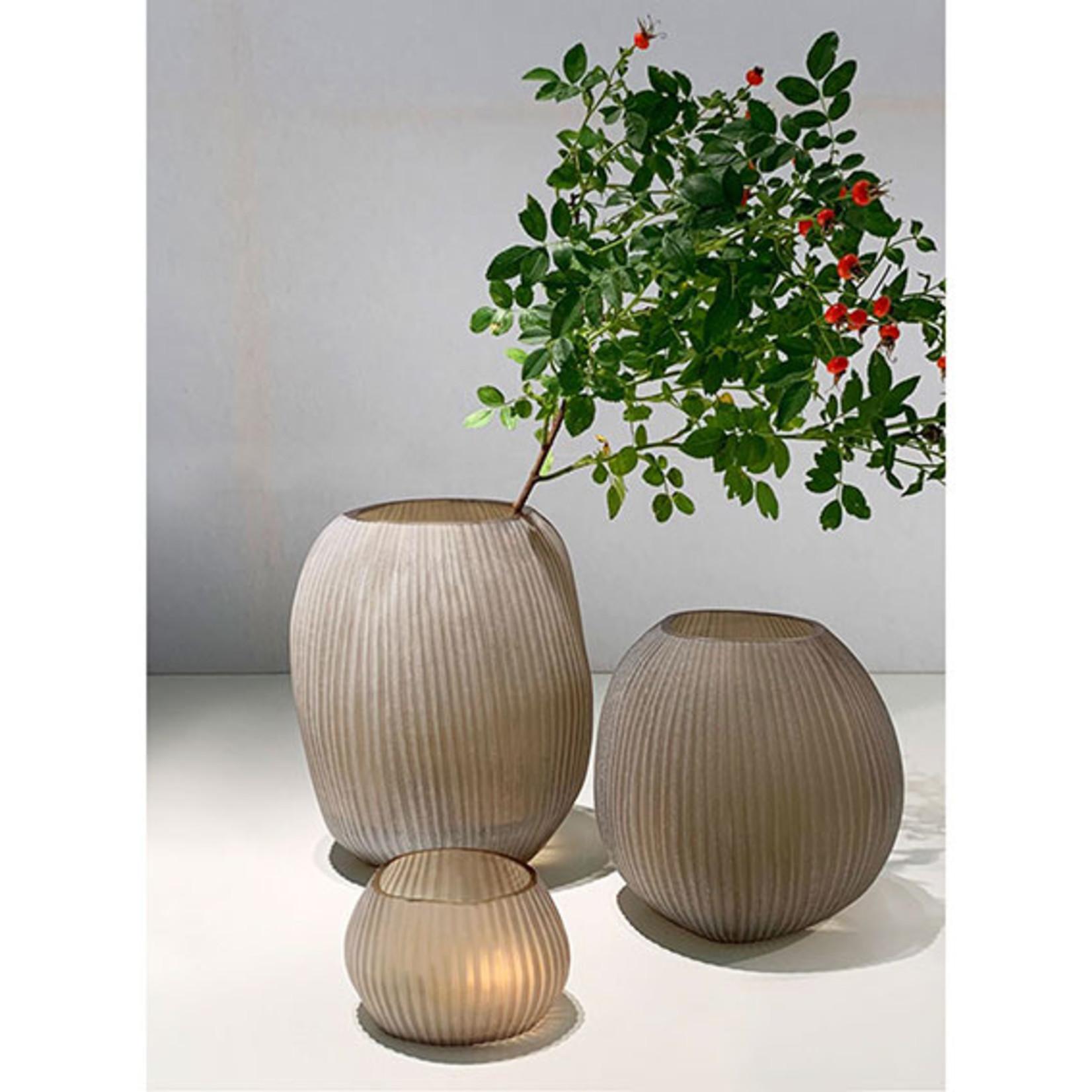 Guaxs Vase Nagaa L | smoke grey