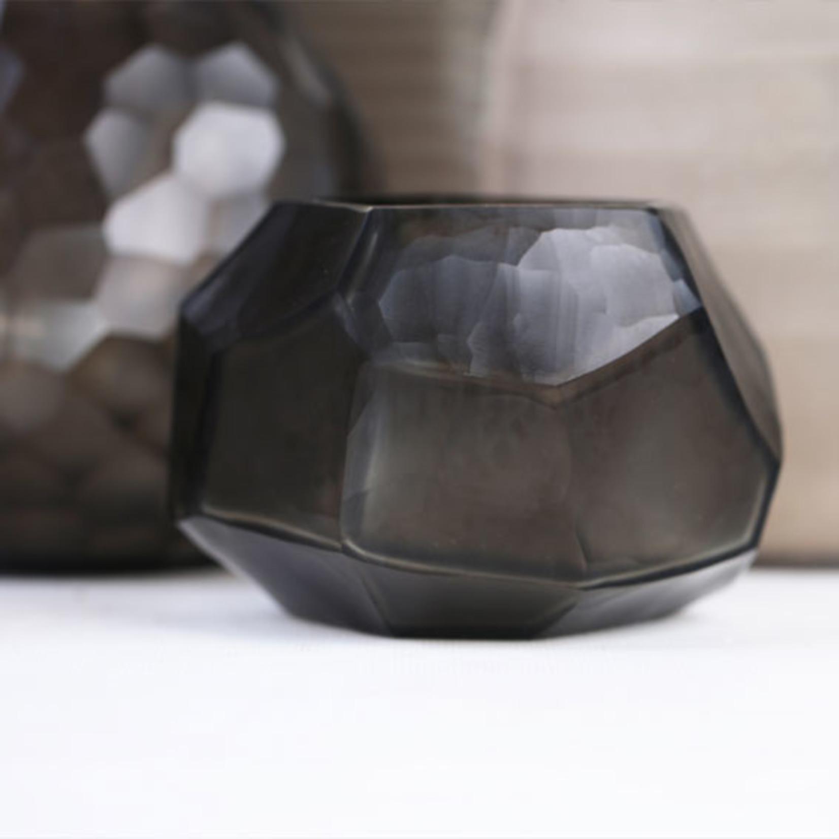 Guaxs Waxinelichthouder Cubistic   Indigo / Smokegrey