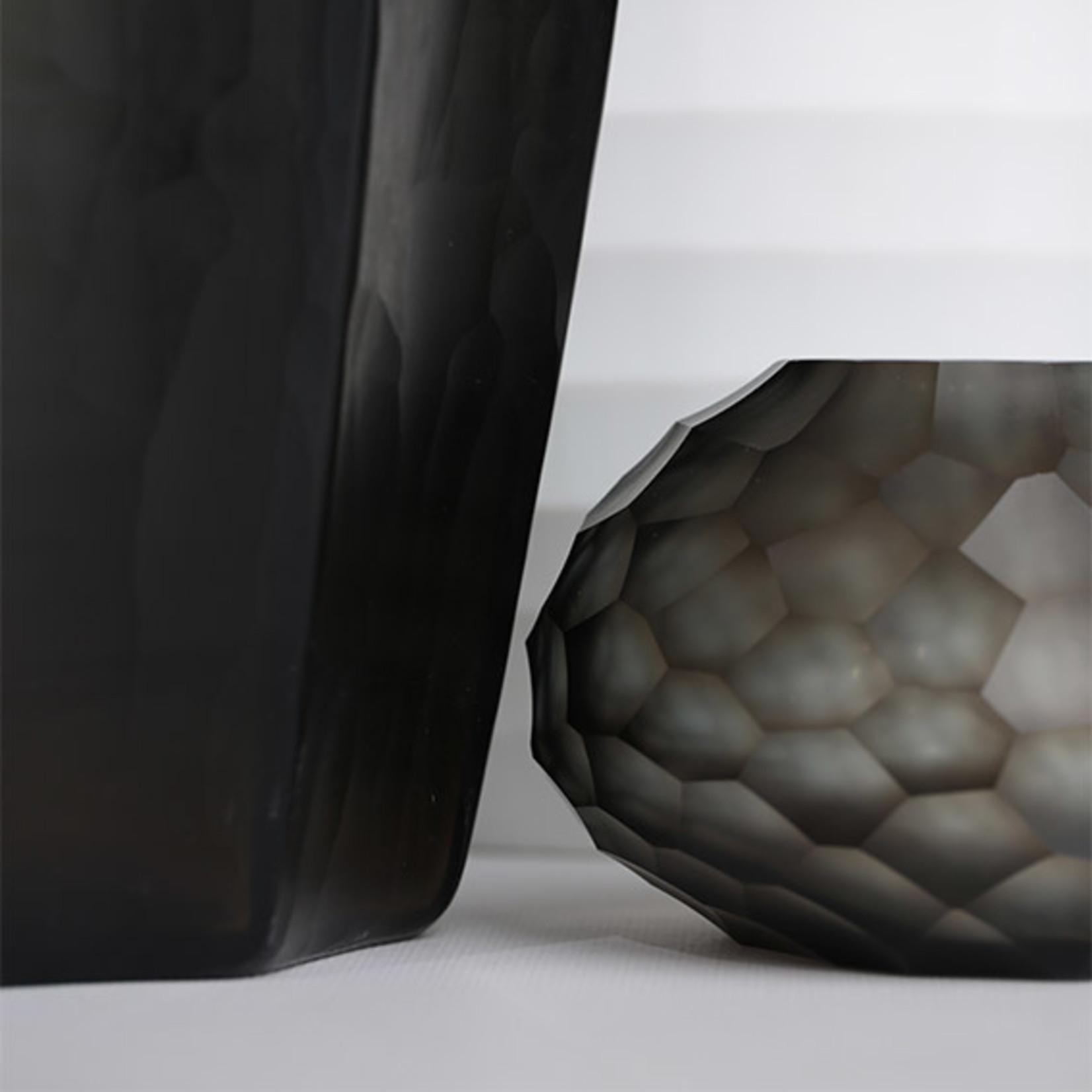 Guaxs Vase Otavalo Small | Indigo / Smoke Gray