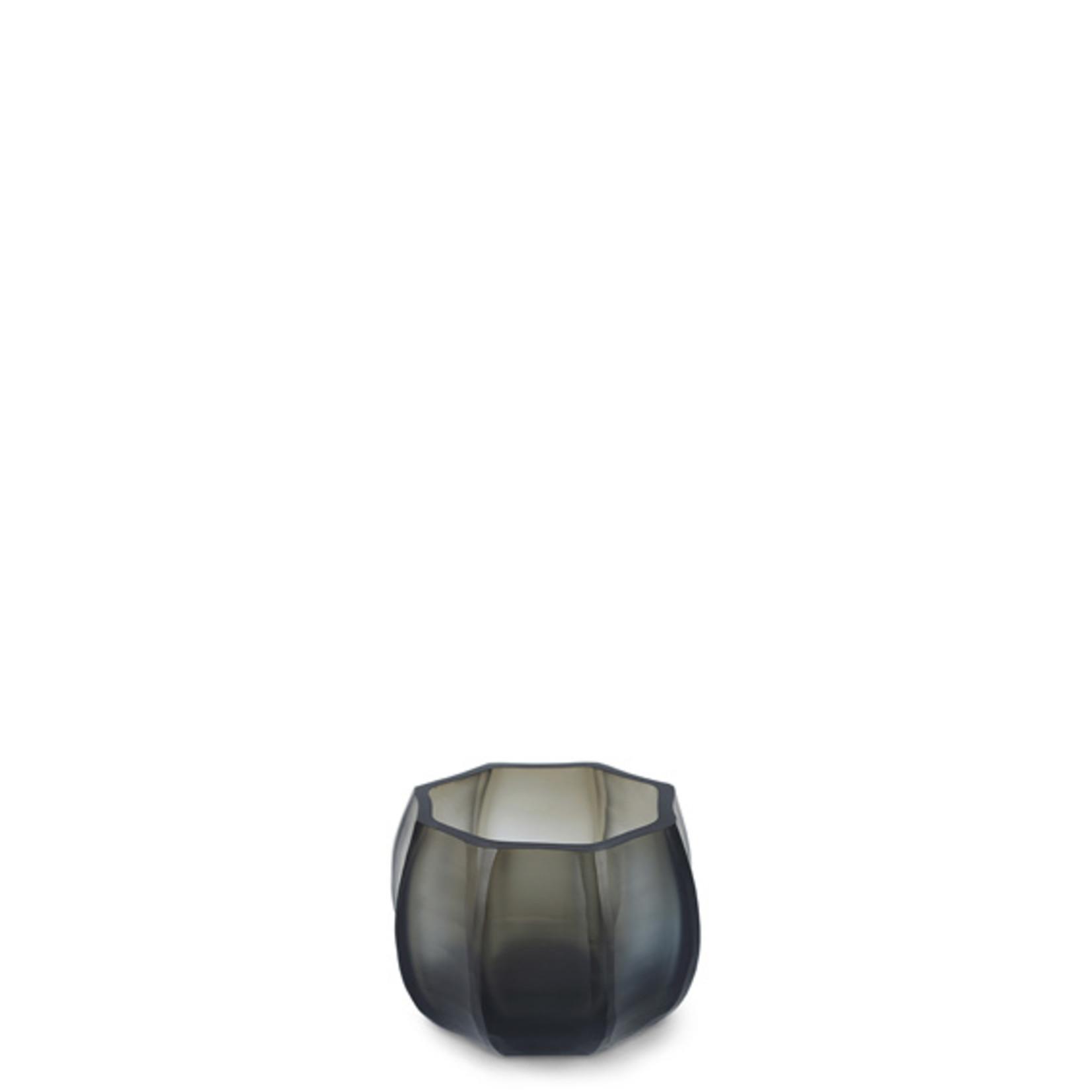 Guaxs Tea light holder Koonam   Indigo / Smoke Gray