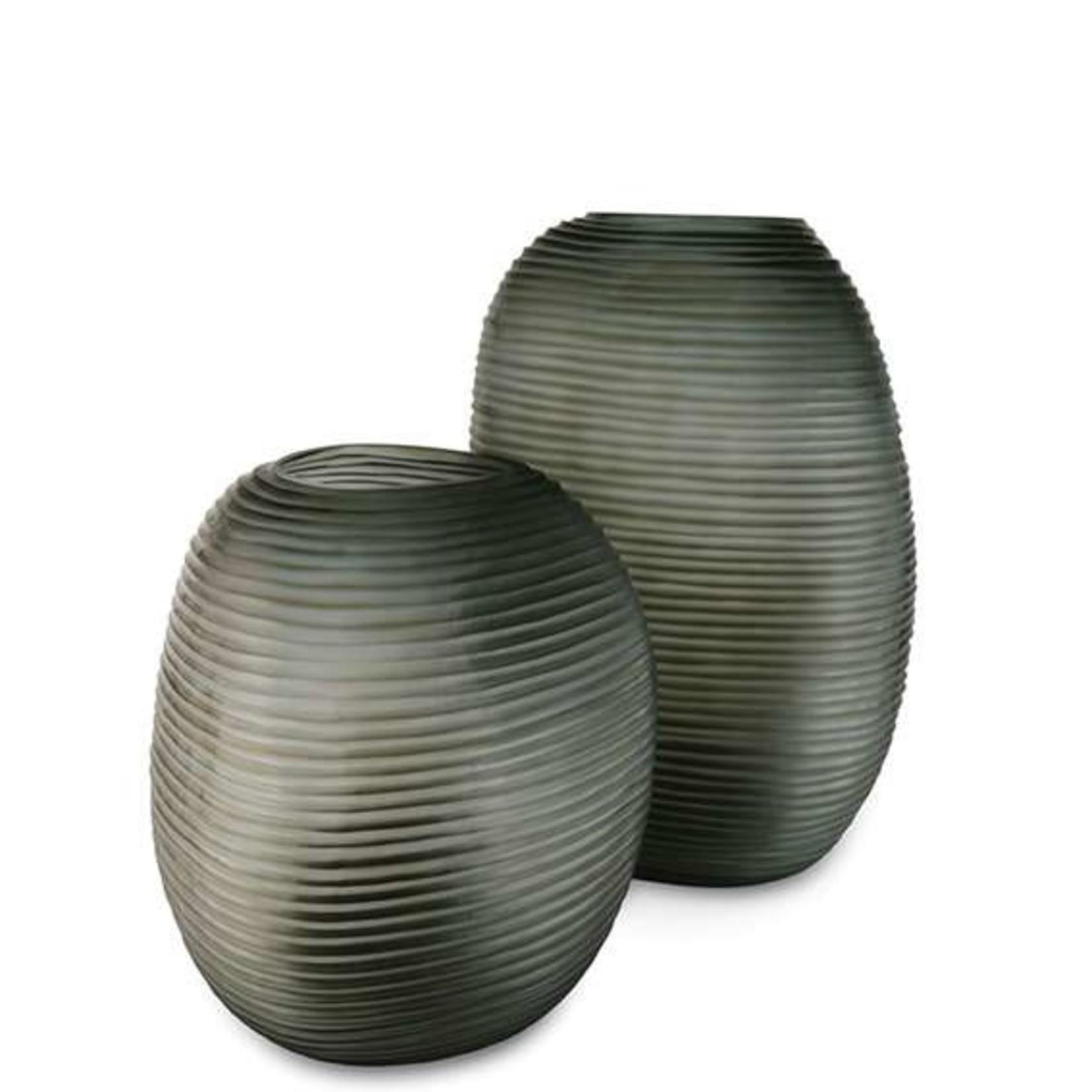 Guaxs Vase Patara Round | Indigo / Smoke Gray