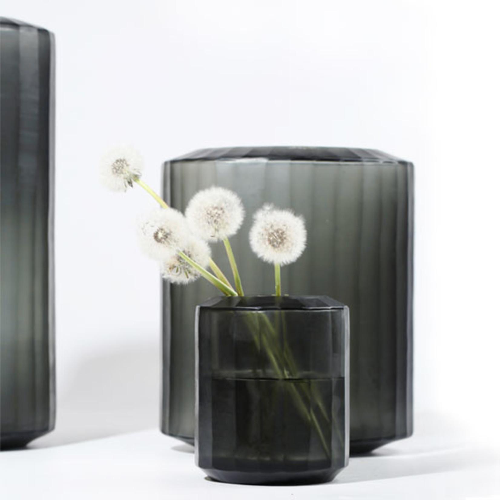 Guaxs Vase Omar L | Indigo / Smoke Gray