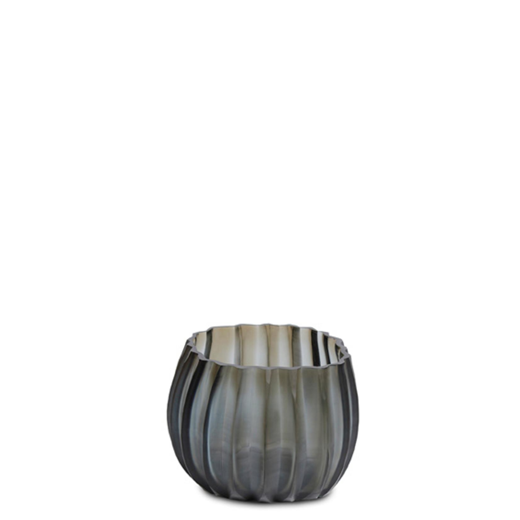 Guaxs Tea light holder Manakara   Indigo / Smoke Gray