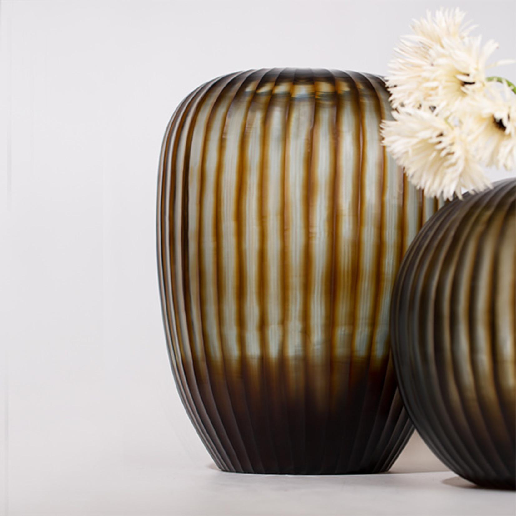 Guaxs Vase Gobi Tall | Indigo / Brown
