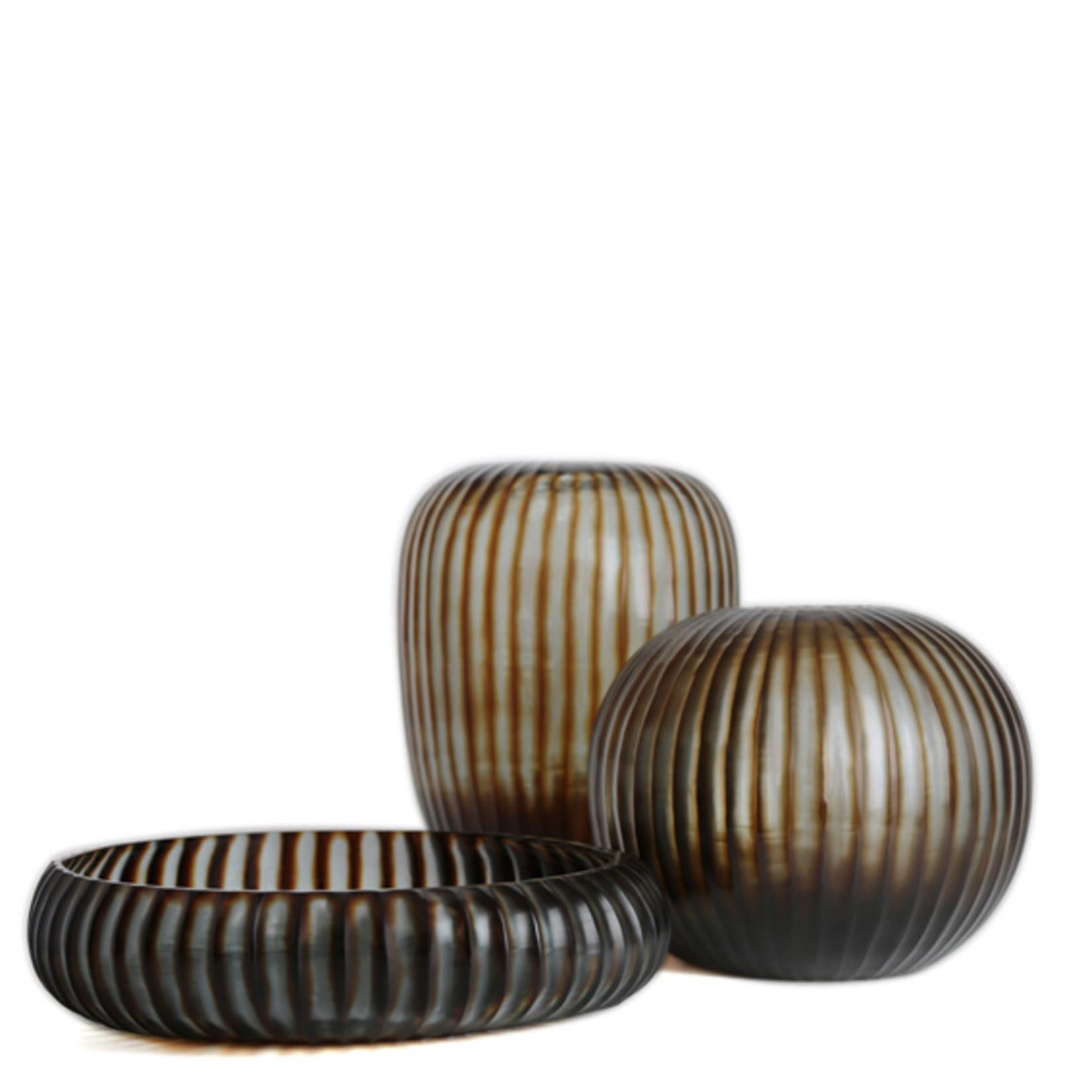 Guaxs Vase Gobi Round | Indigo / Brown