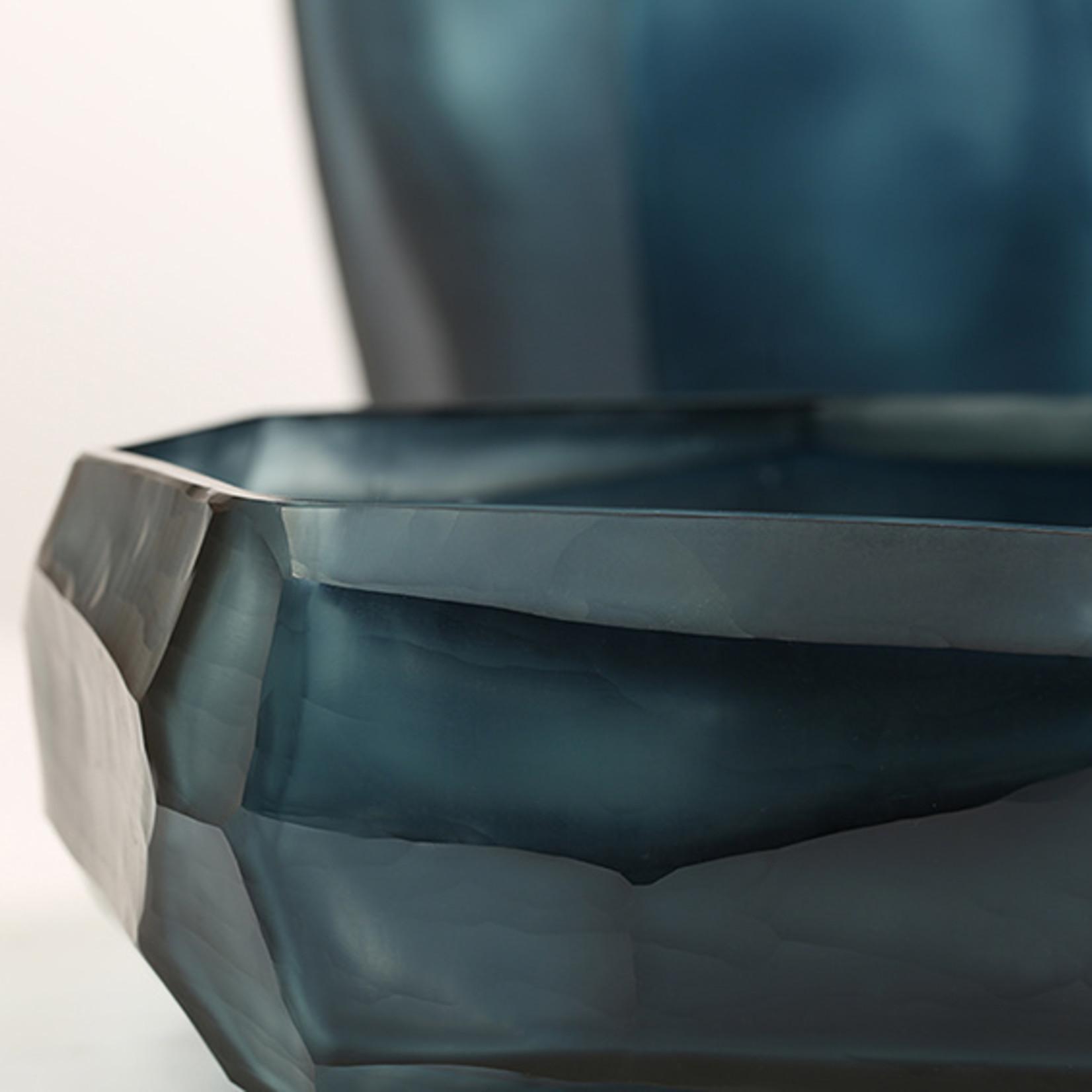 Guaxs Bol cubique   Bleu océan / Indigo