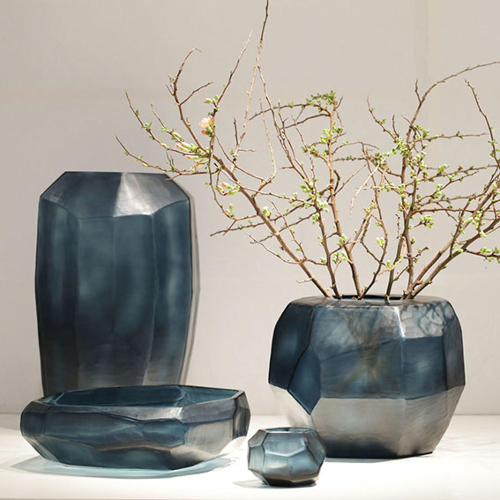 Guaxs Vase Cubistic Round | Ocean Blue / Indigo