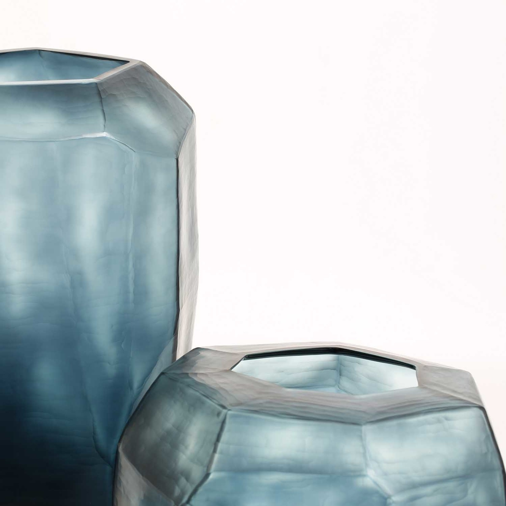Guaxs Vaas Cubistic Tall | Ocean Blue / Indigo