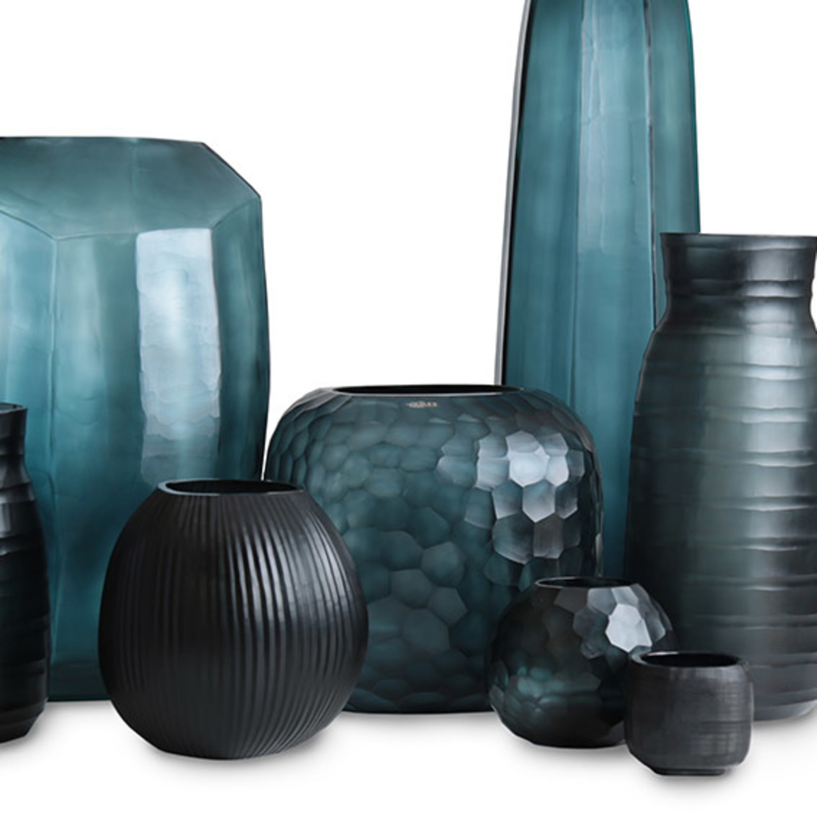 Guaxs Vase Somba L   Ocean Blue / Indigo