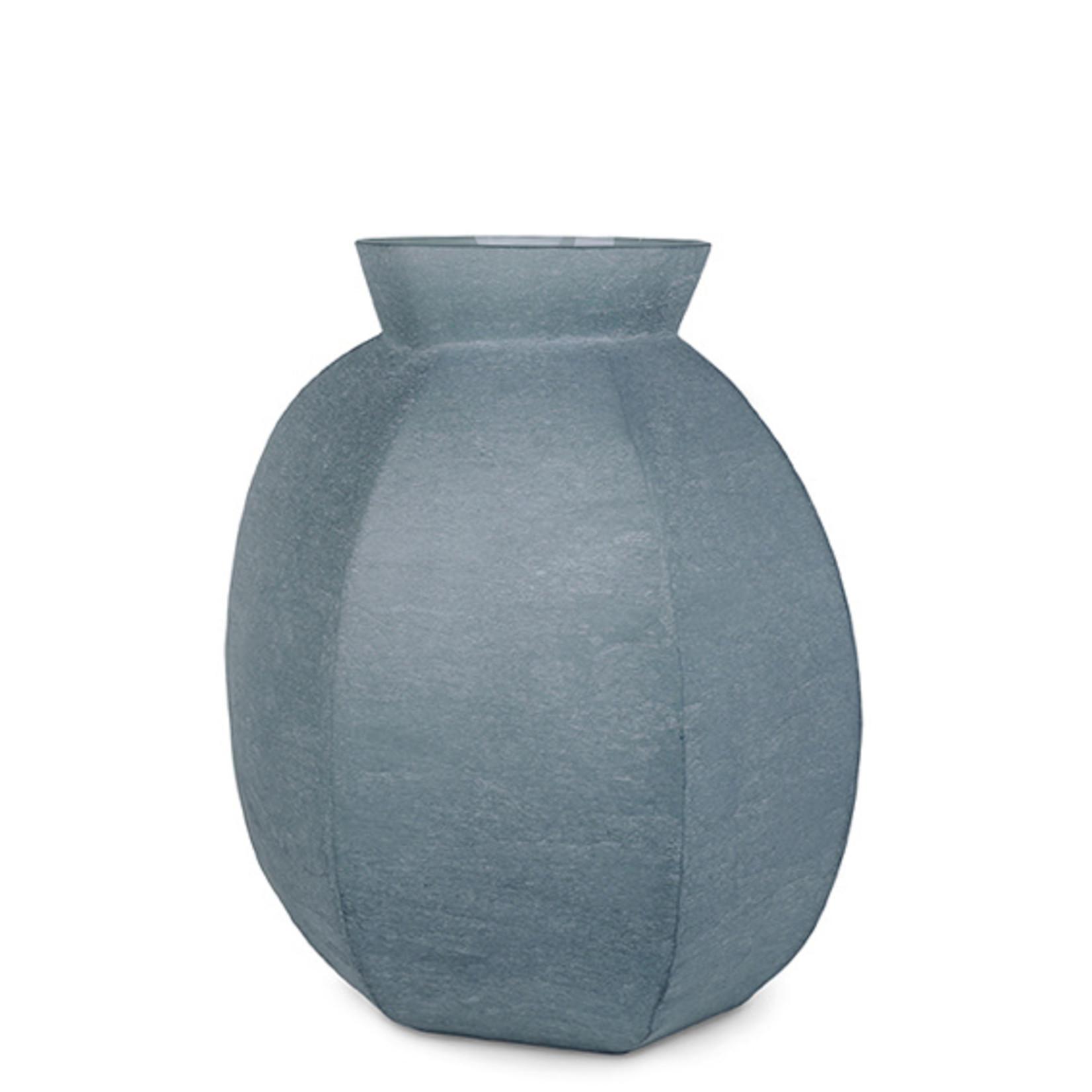 Guaxs Vase Karakol Round   Indigo