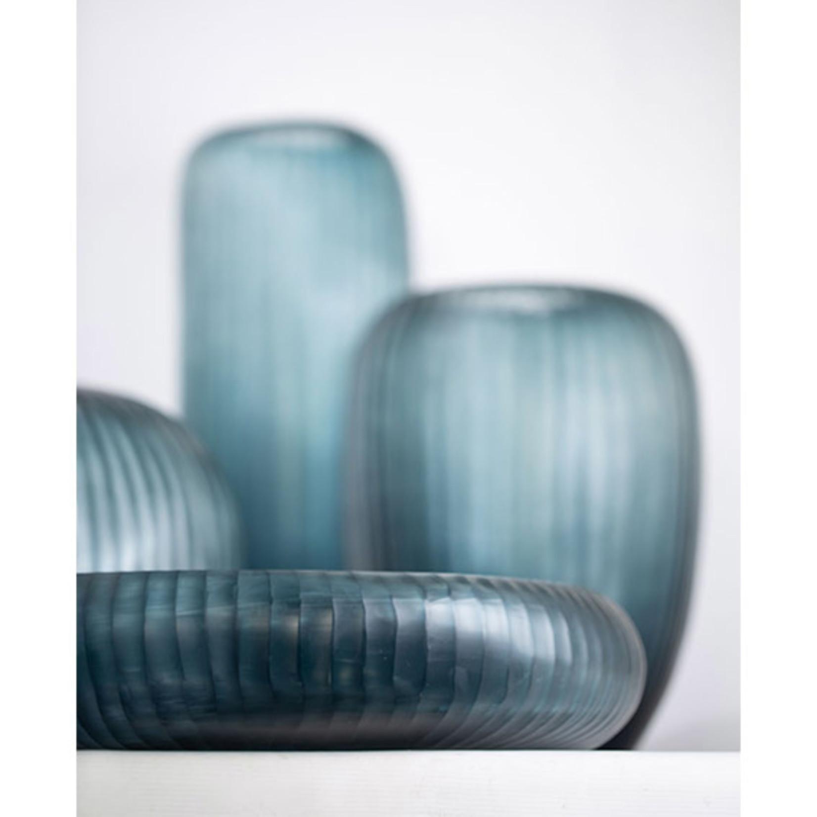 Guaxs Vase Gobi Rond   Bleu océan / Indigo