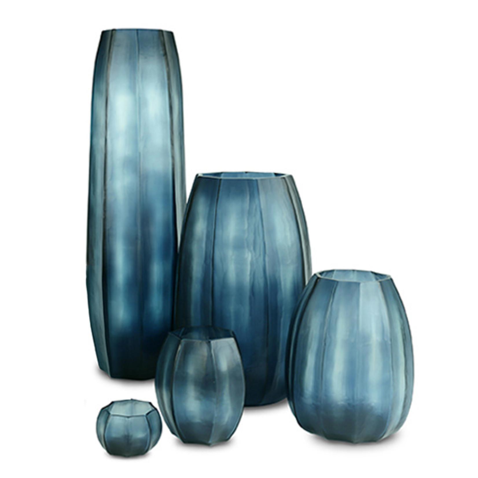 Guaxs Vase Koonam S   Bleu océan / Indigo