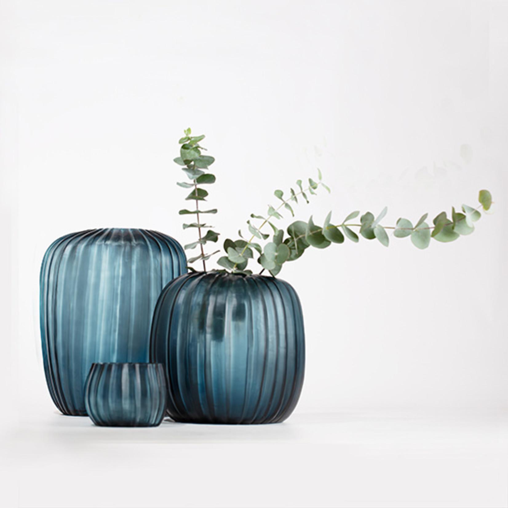 Guaxs Vase Manakara Grand   Bleu océan / Indigo