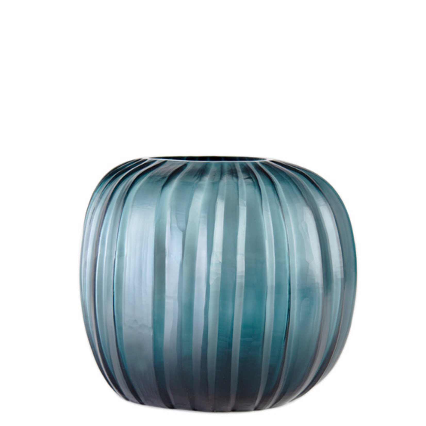Guaxs Vase Manakara Round   Ocean Blue / Indigo