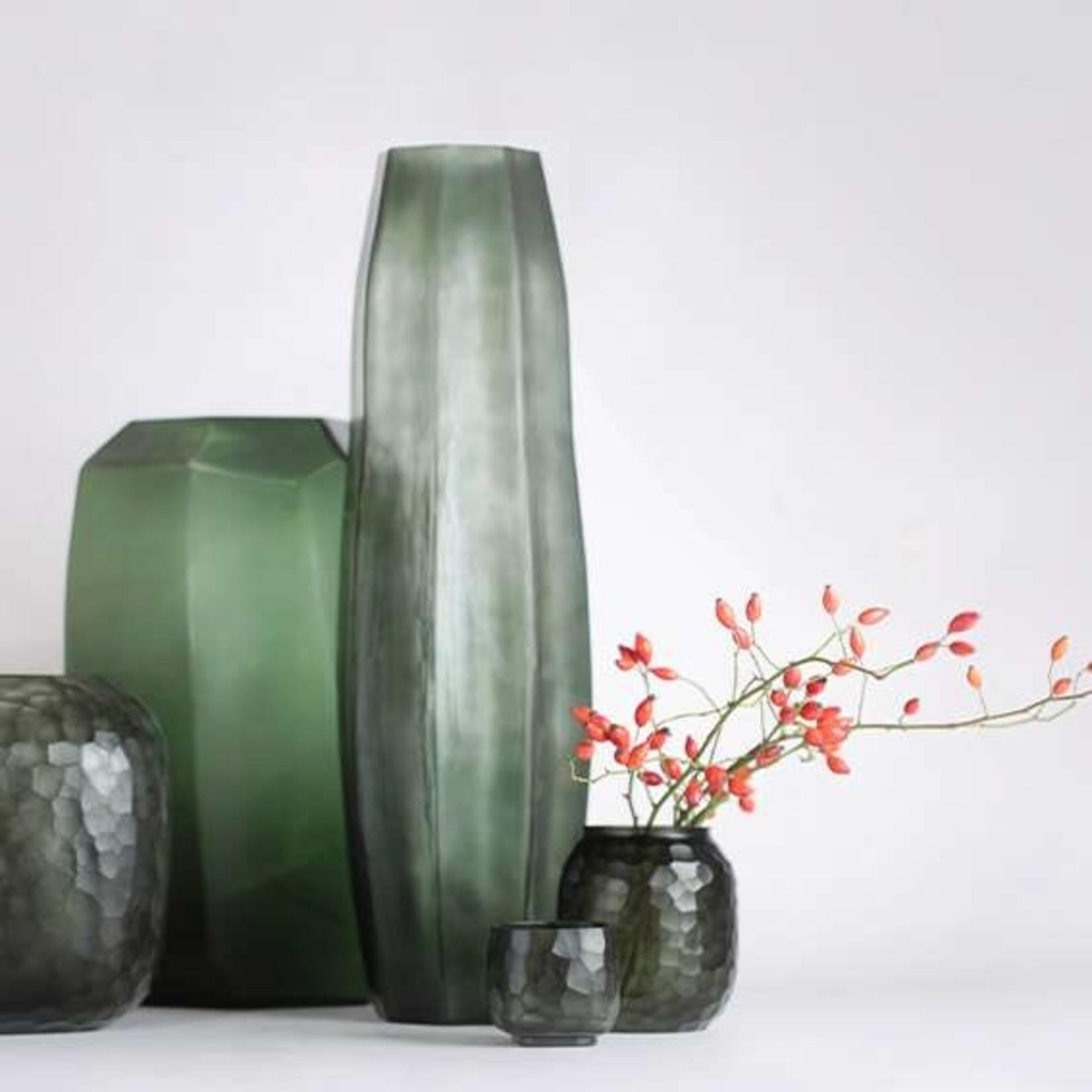 Guaxs Vase Koonam Tall   Light Steelgrey / Black Steelgrey