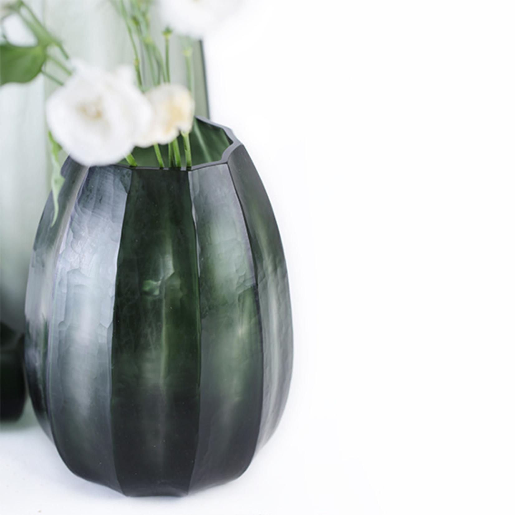 Guaxs Vase Koonam M | Light Steelgrey / Black Steelgrey