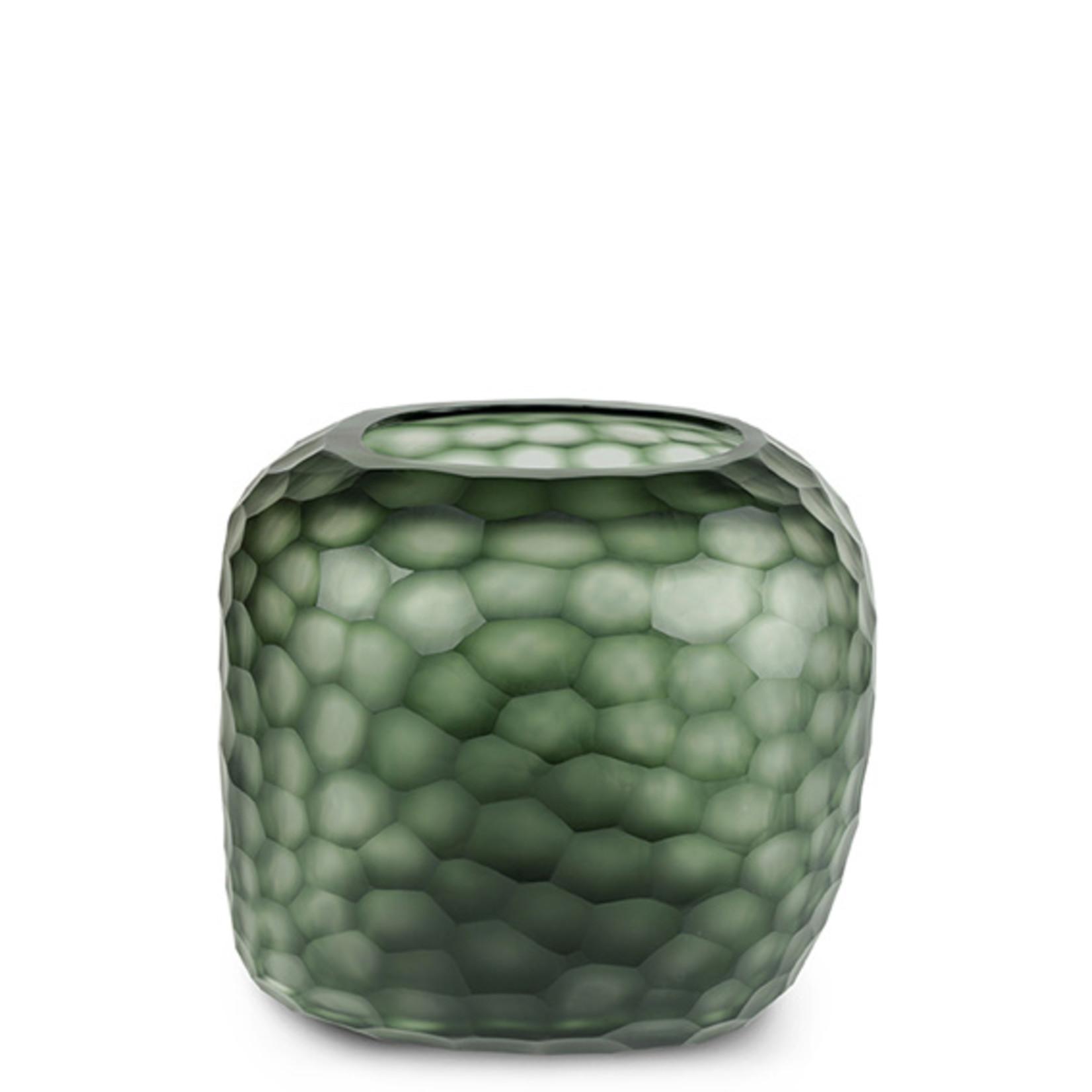 Guaxs Vase Somba L   Light Steel Gray / Black Steel Gray