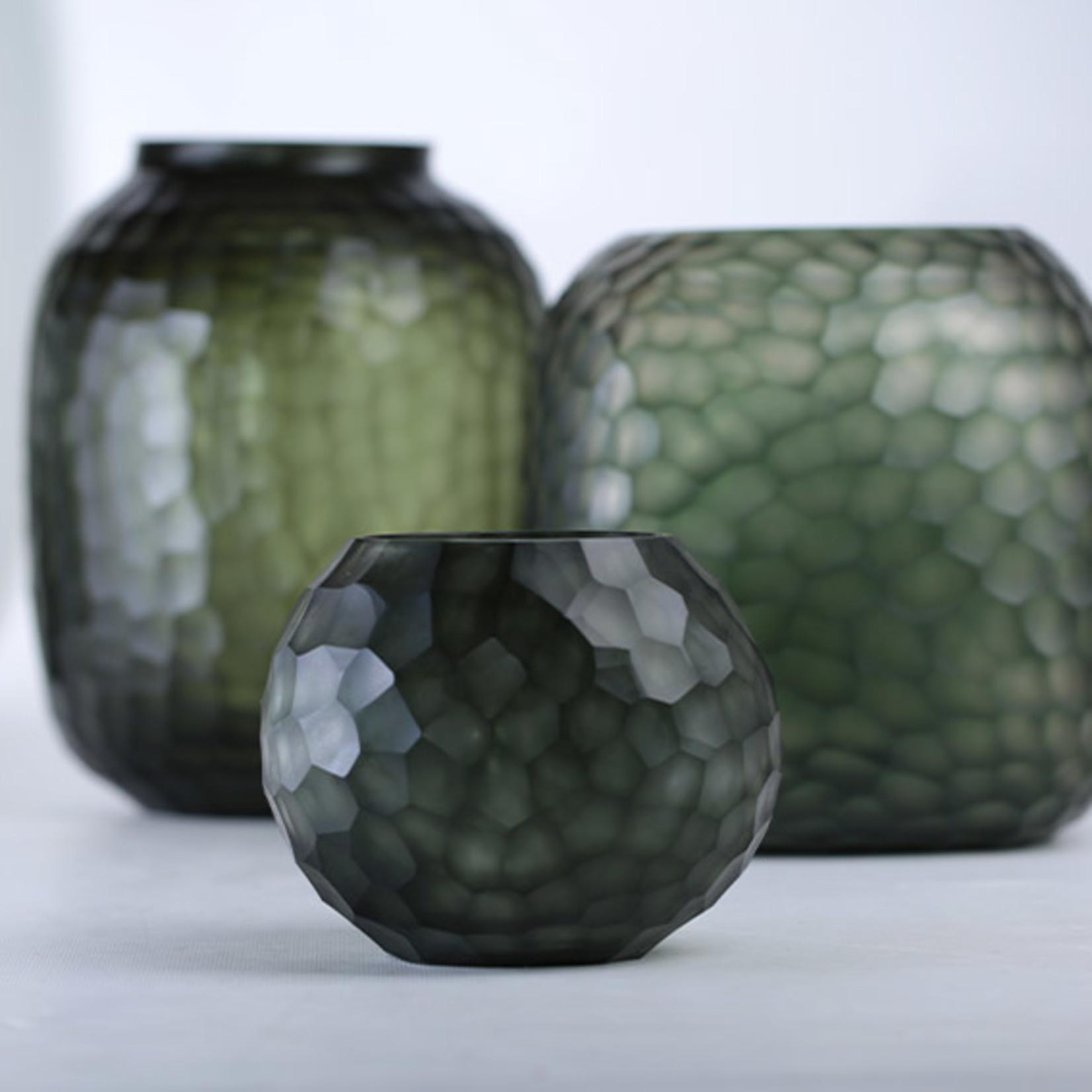 Guaxs Vase Somba S   Light Steelgrey / Black Steelgrey