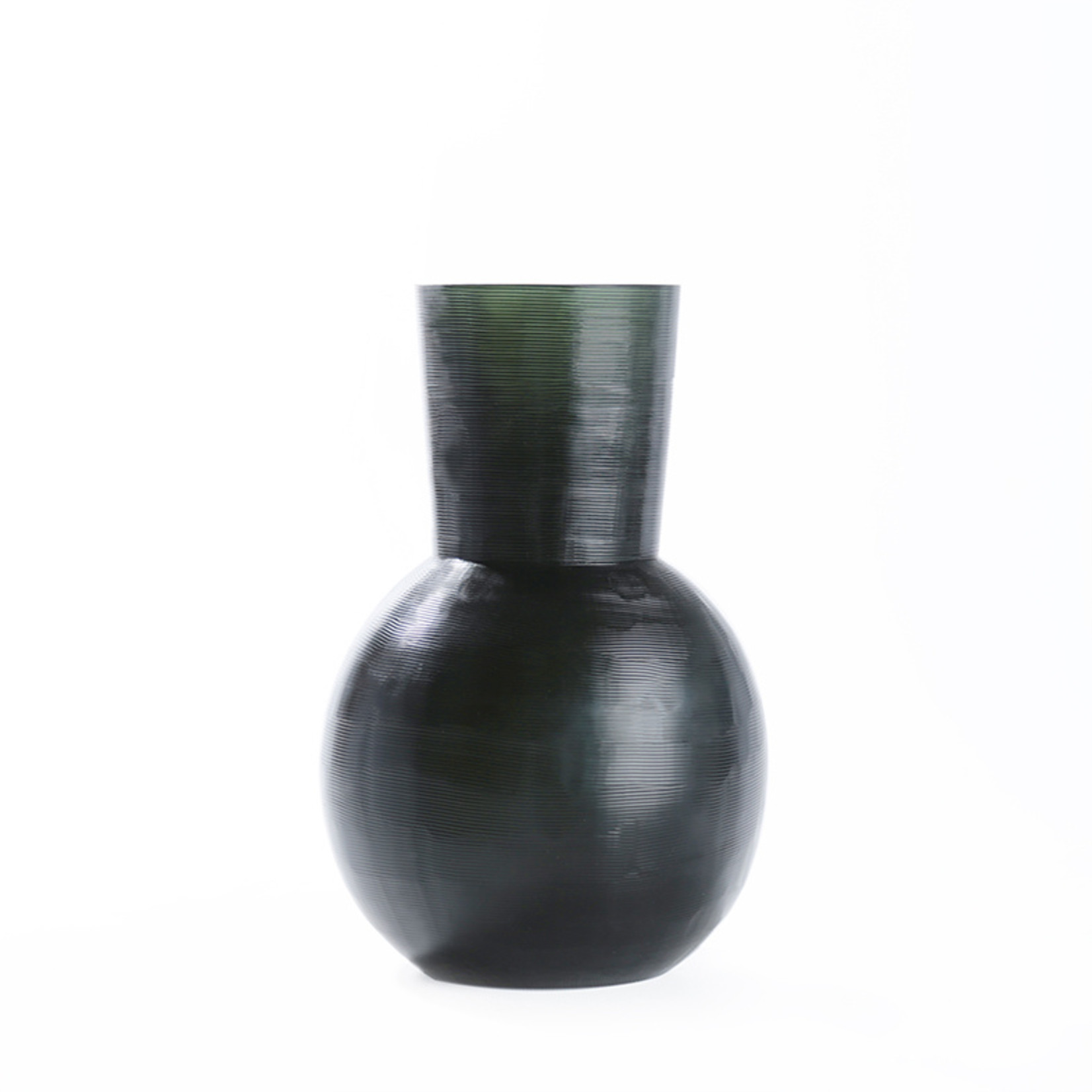 Guaxs Vase Yeola M | Black / Steel Gray