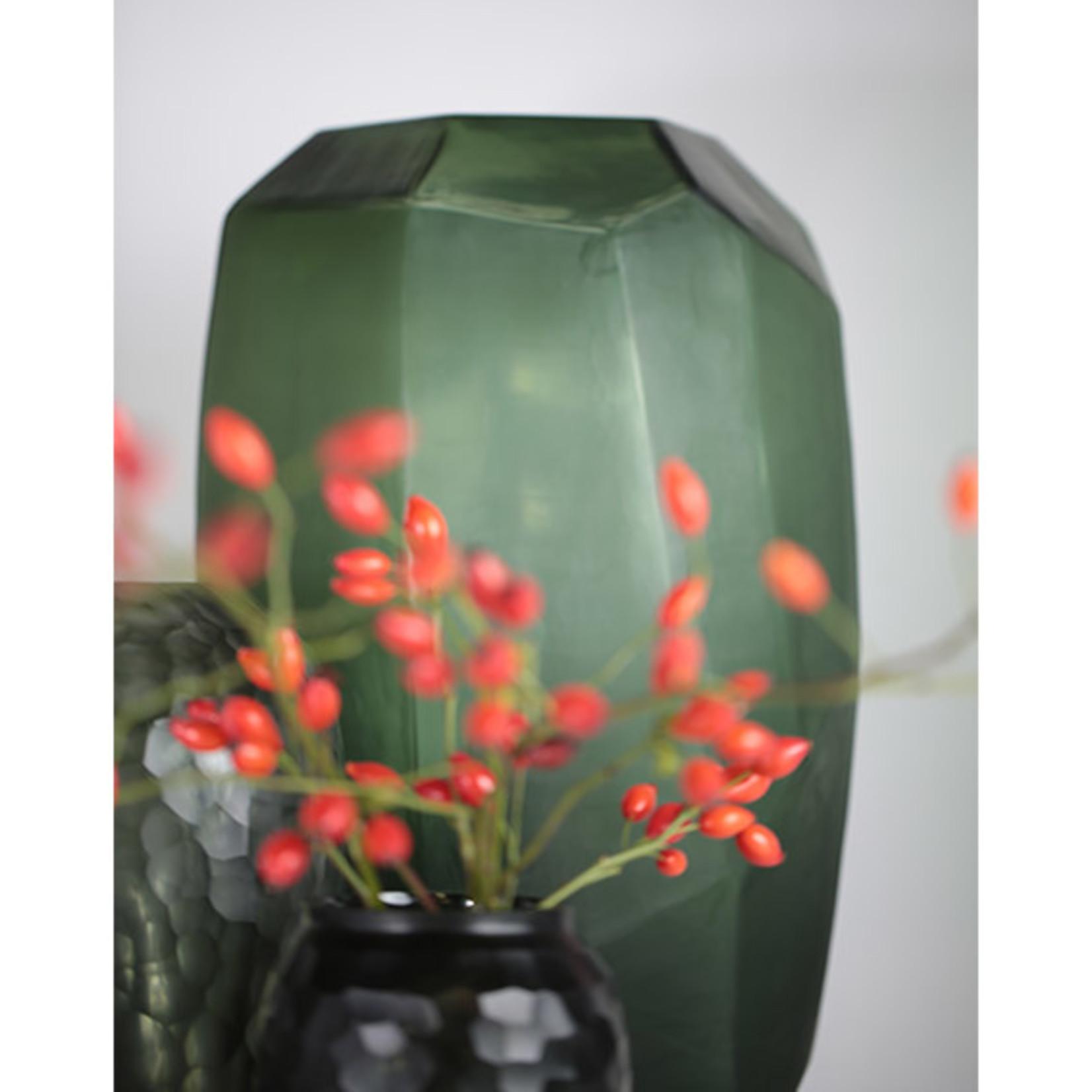 Guaxs Vase Cubistic Tall   Black / Steel Gray