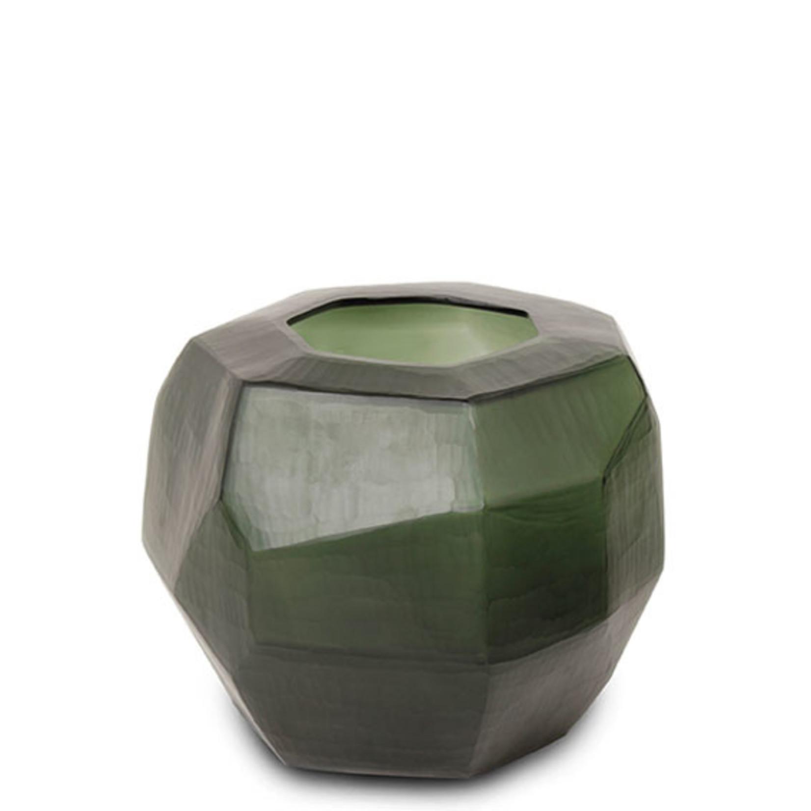 Guaxs Vase Cubistic Round | Black / Steel Gray