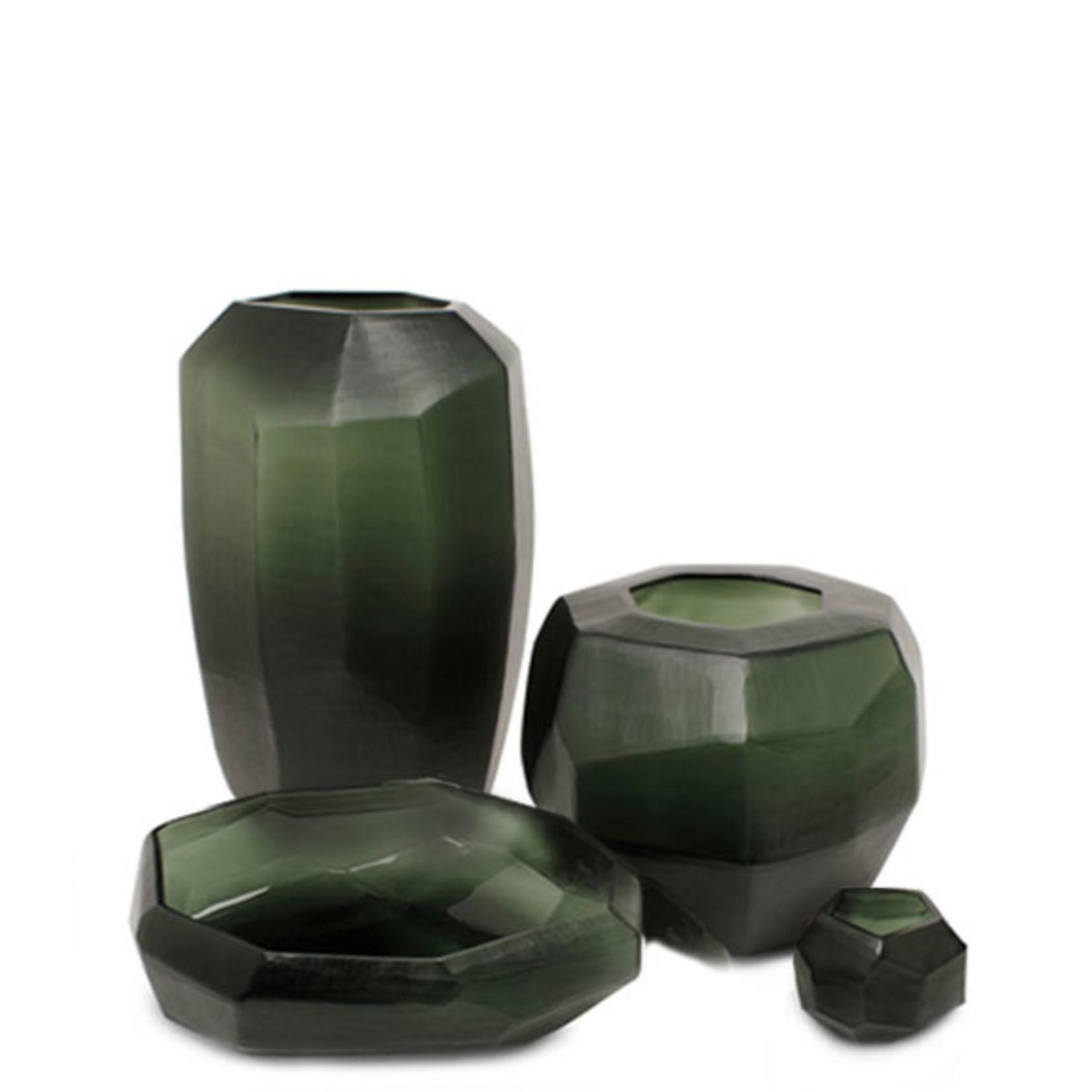 Guaxs Vase Cubiste Rond | Noir / Gris Acier