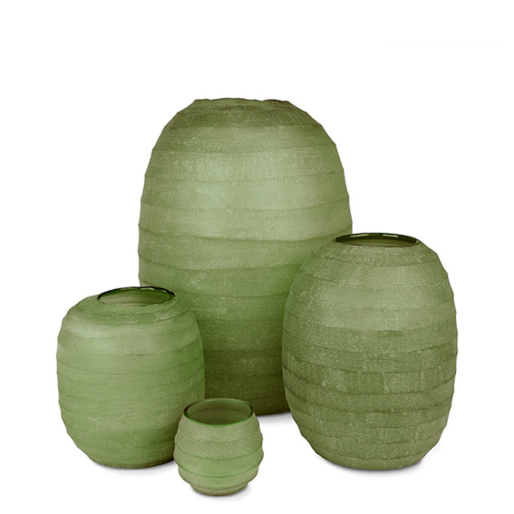 Guaxs Vase Belly L   Olive Green